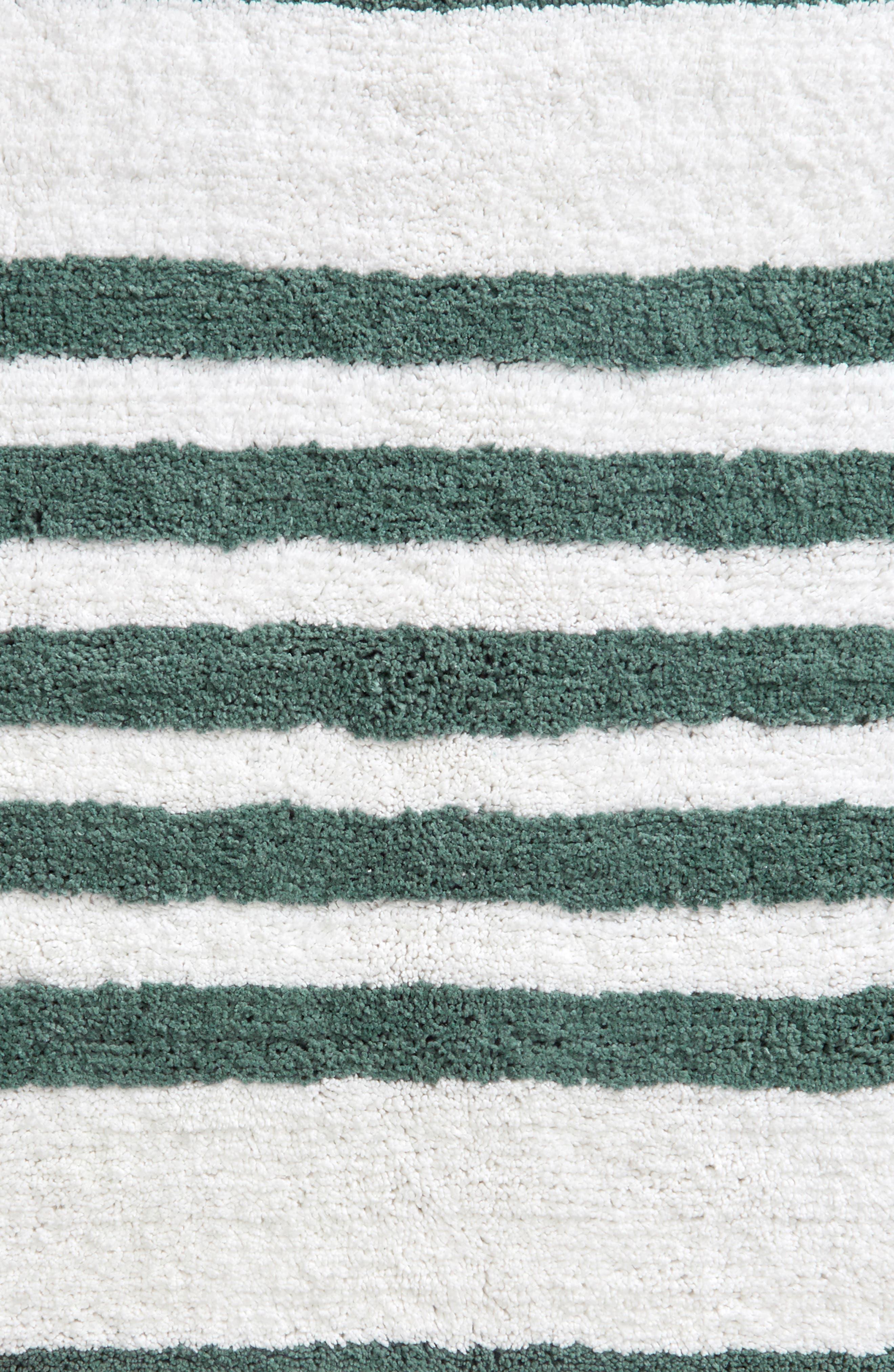 NORDSTROM AT HOME,                             Stripe Bath Rug,                             Alternate thumbnail 2, color,                             TEAL TITANIC