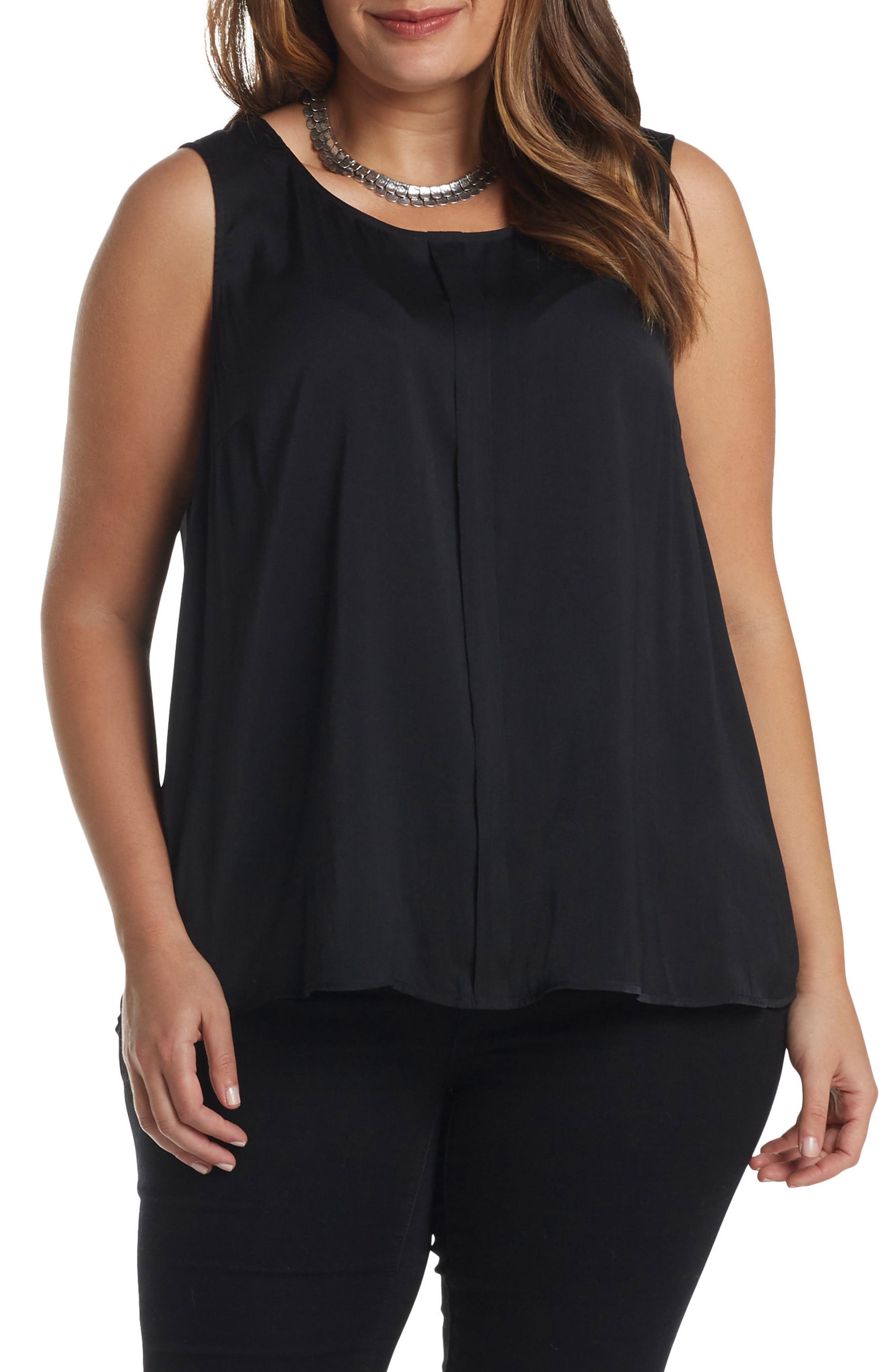 Angelle Sleeveless Top,                             Alternate thumbnail 3, color,                             001