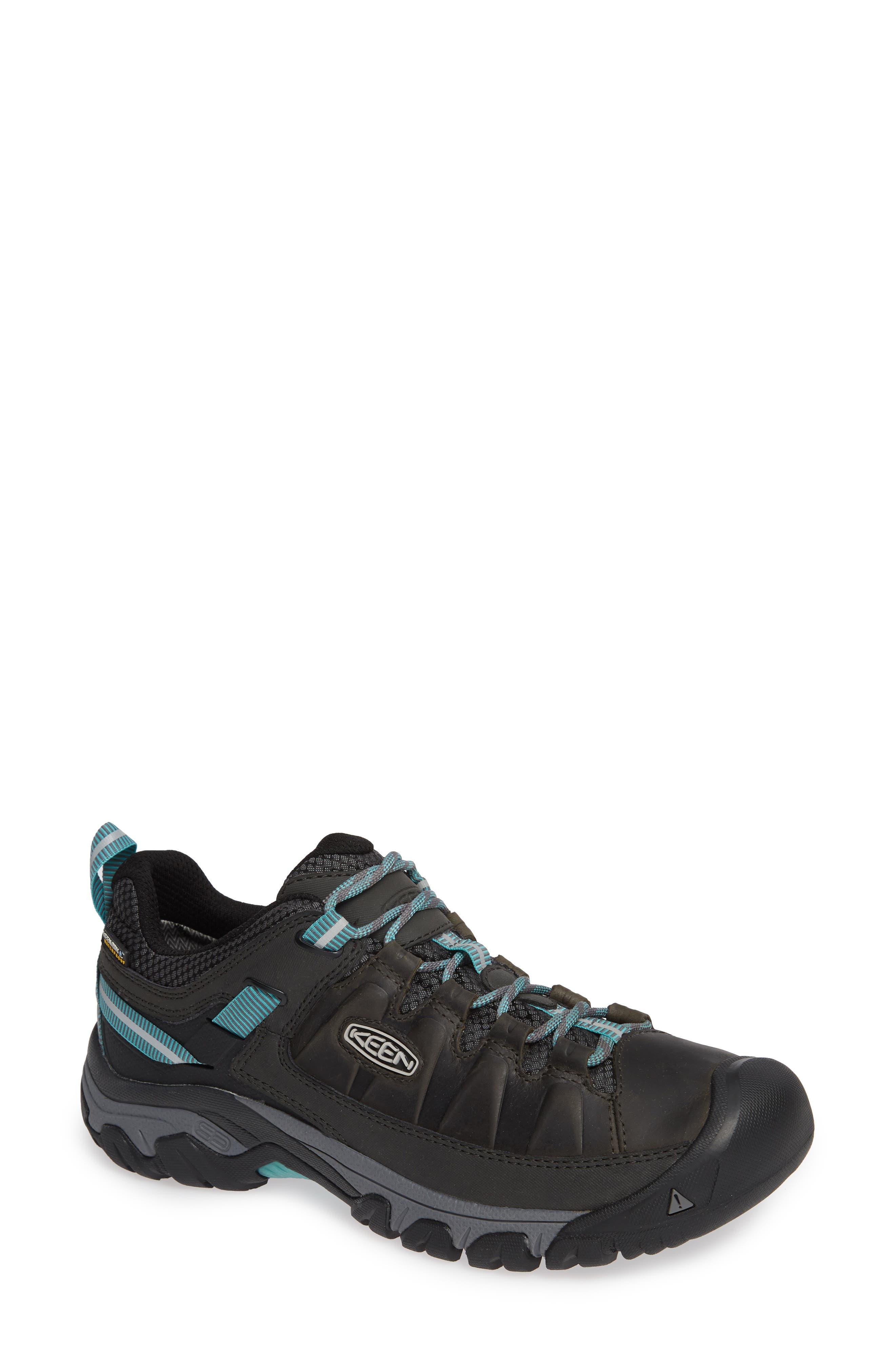 Targhee III Waterproof Hiking Shoe,                         Main,                         color, ALCATRAZ/ TURQUOISE LEATHER