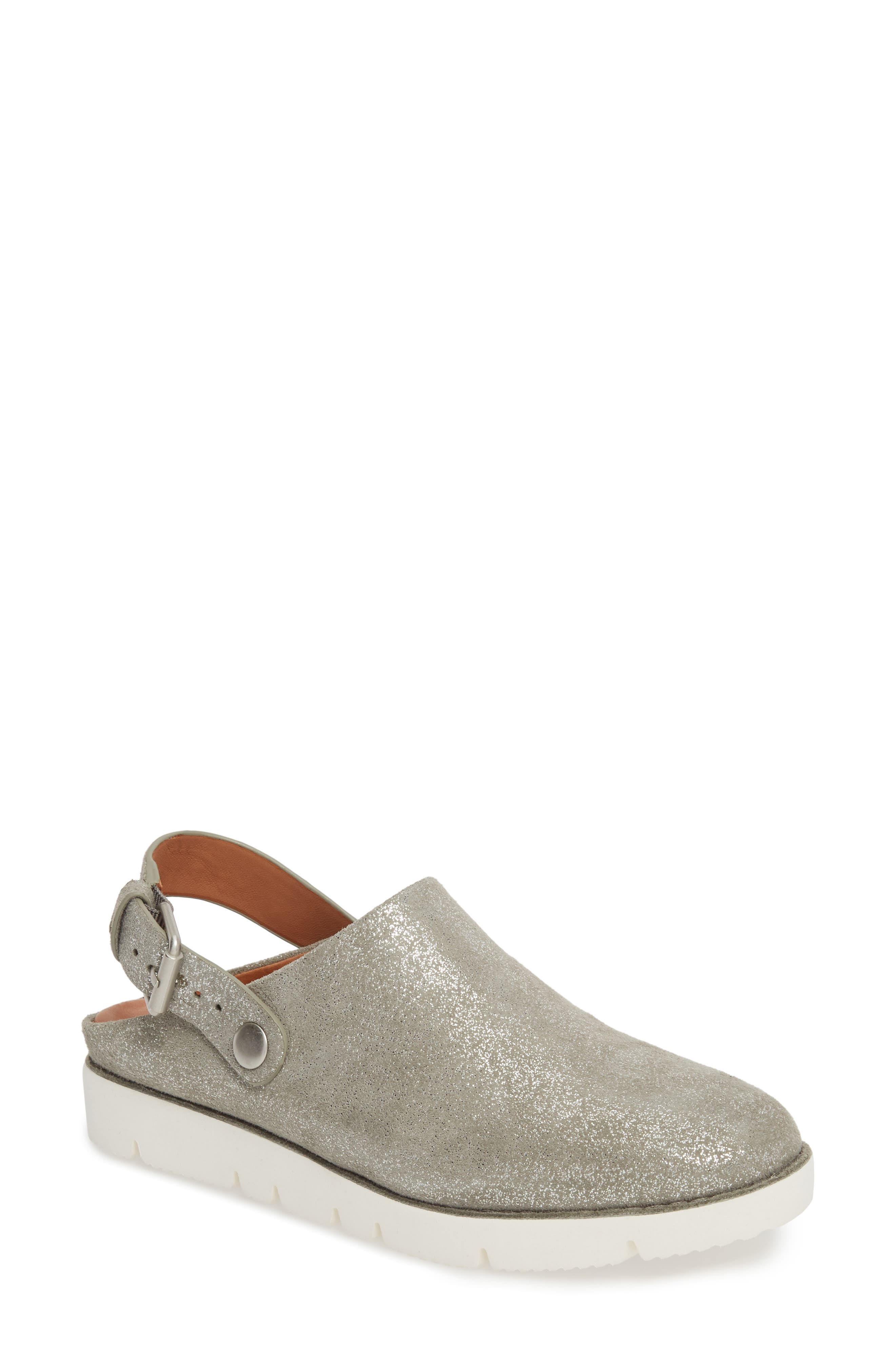 by Kenneth Cole Esther Convertible Wedge,                         Main,                         color, LIGHT PEWTER METALLIC LEATHER