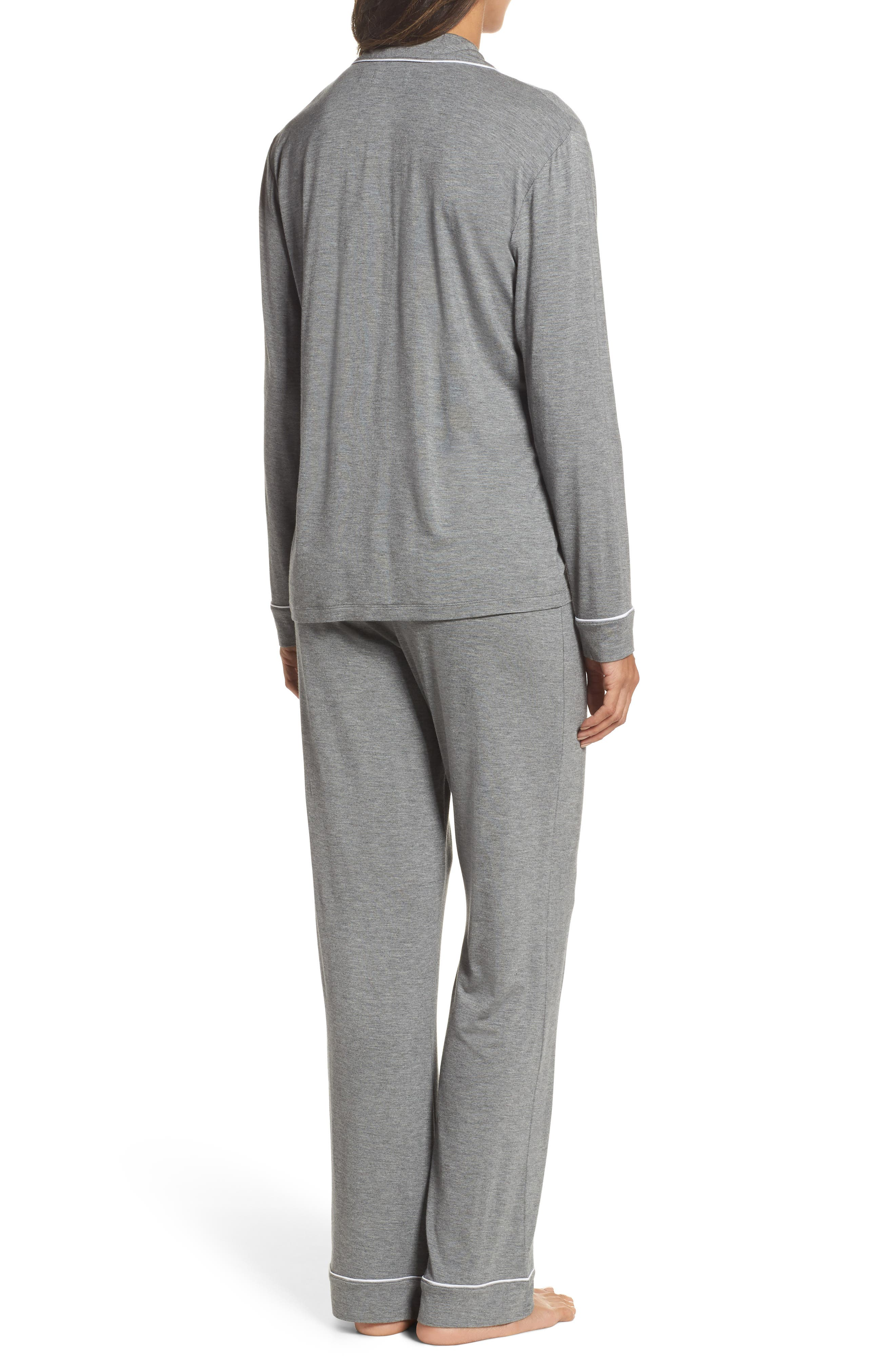 Lenon Jersey Pajamas,                             Alternate thumbnail 2, color,                             GREY HEATHER
