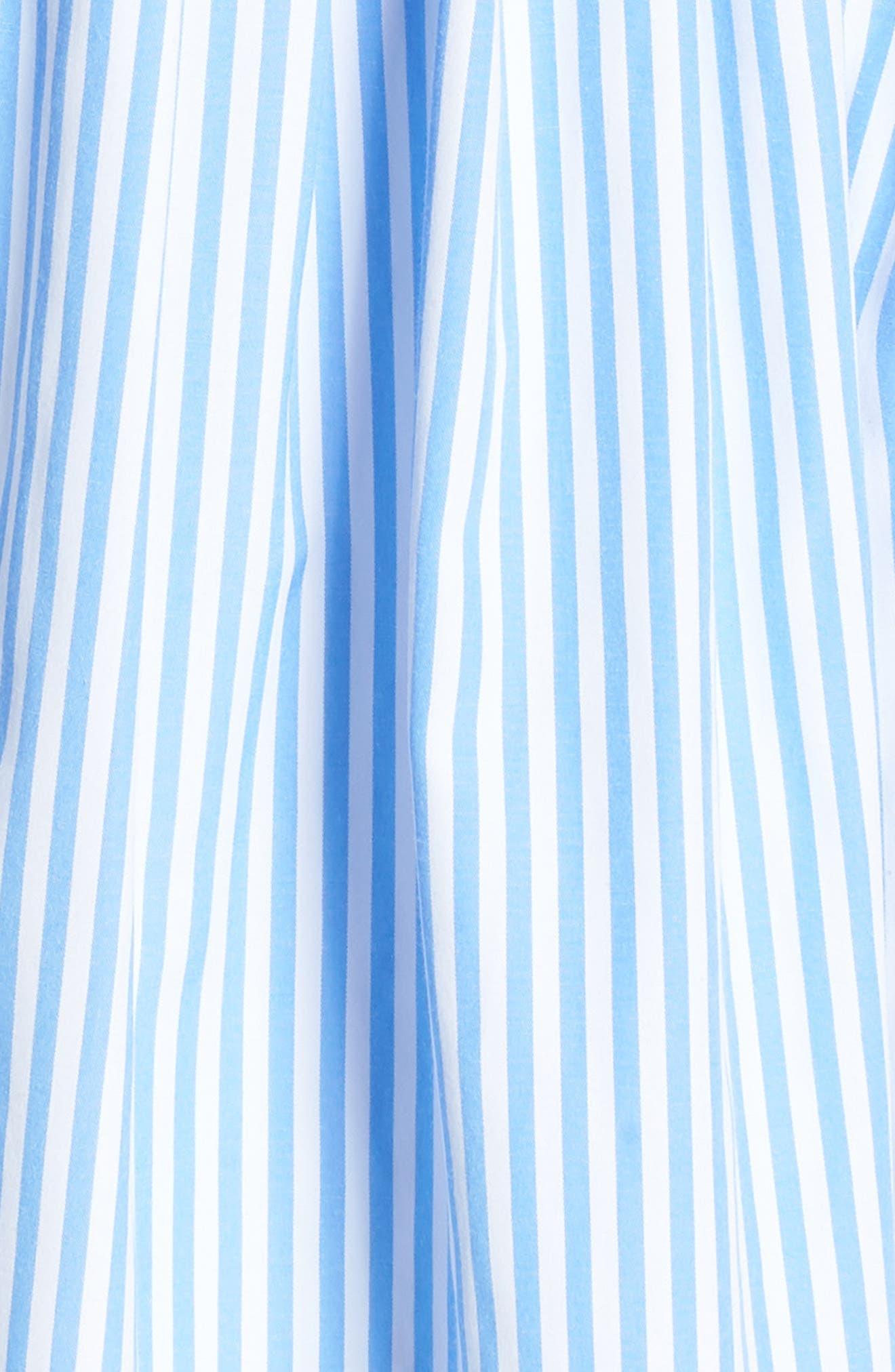 Claire Stripe Halter Dress,                             Alternate thumbnail 6, color,                             461