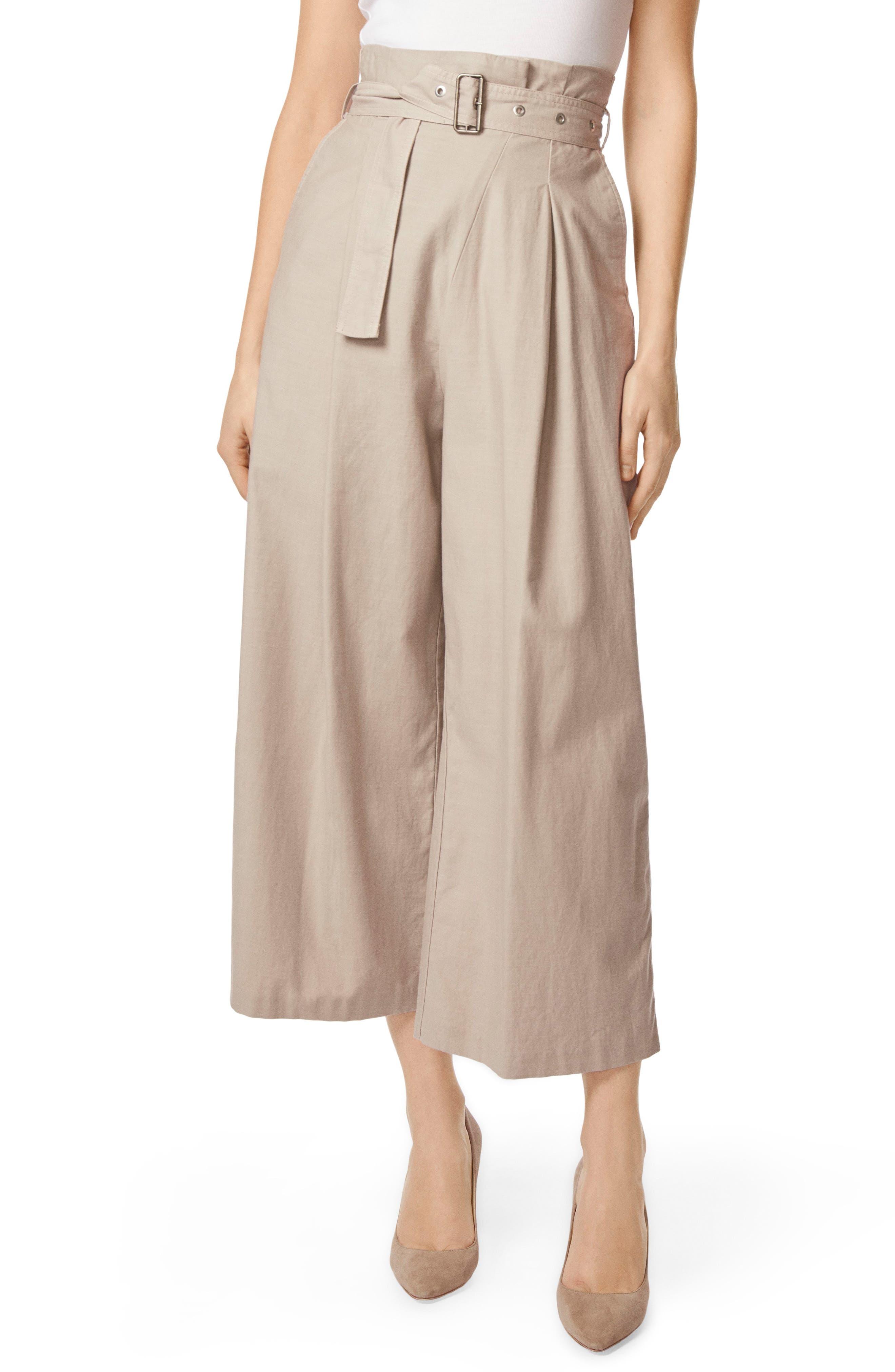 Via Pleat Front Wide Leg Pants,                         Main,                         color, 026