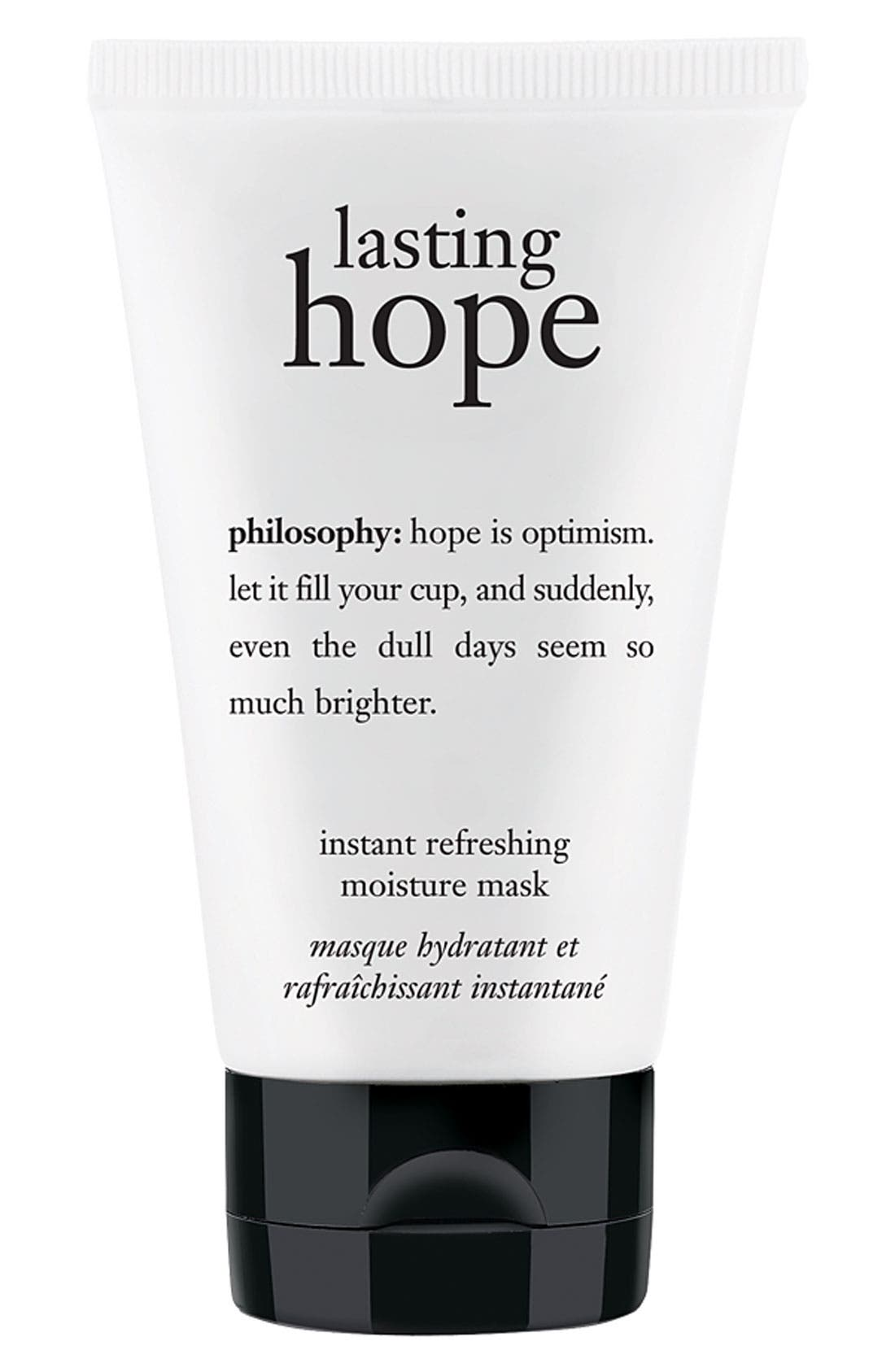 PHILOSOPHY,                             'lasting hope' instant refreshing moisture mask,                             Main thumbnail 1, color,                             000