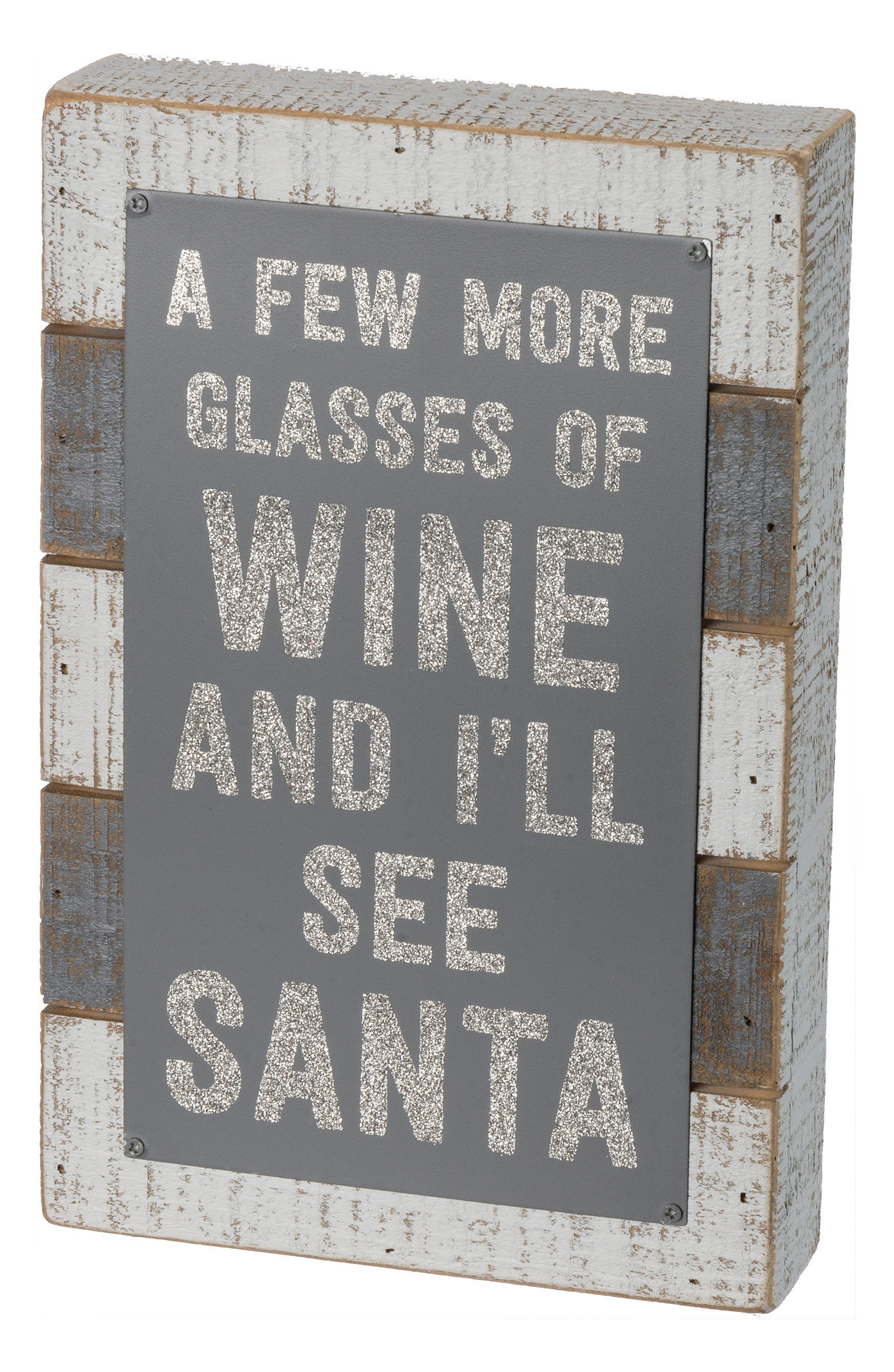 A Few More Glasses Box Sign,                             Main thumbnail 1, color,                             020