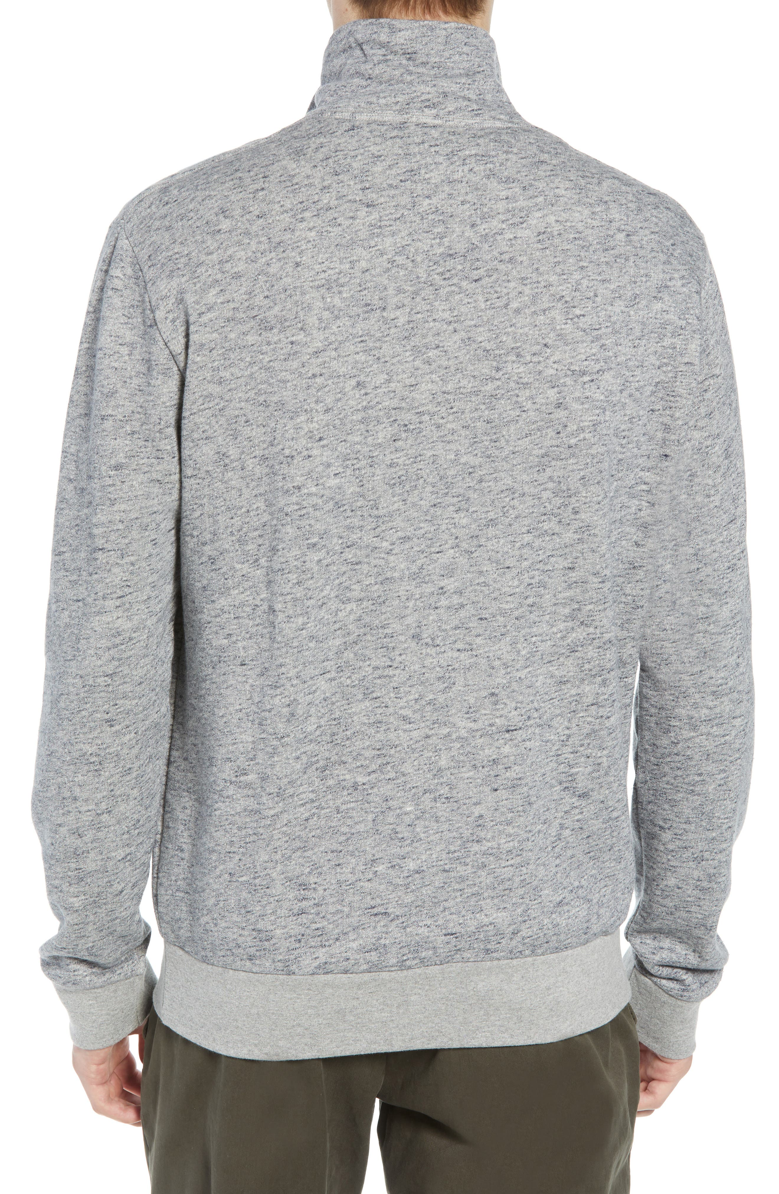 Winning Quarter Zip Regular Fit Sweatshirt,                             Alternate thumbnail 2, color,                             GREY MOULINE