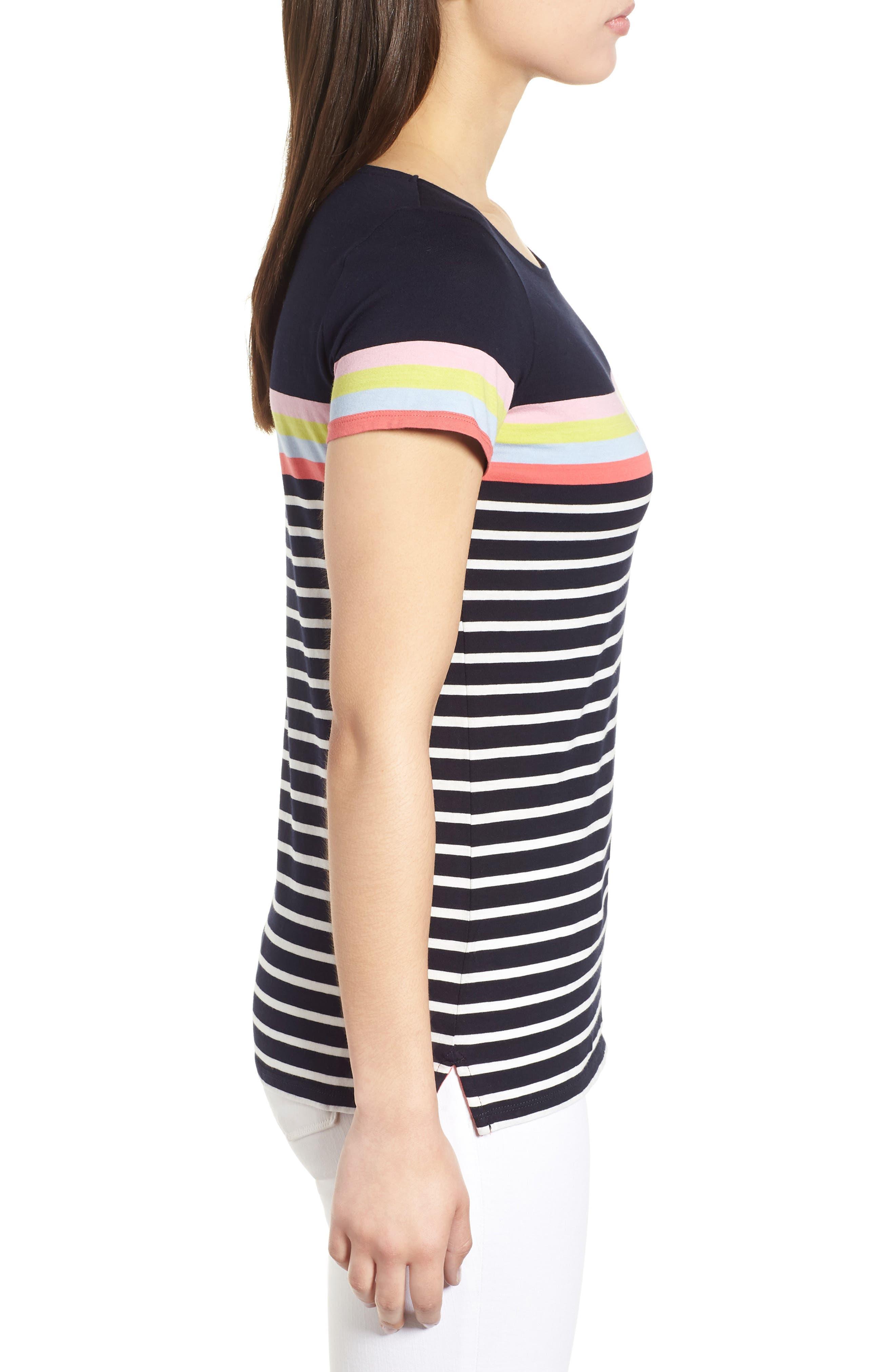 Breton Short Sleeve Stripe Cotton Top,                             Alternate thumbnail 12, color,