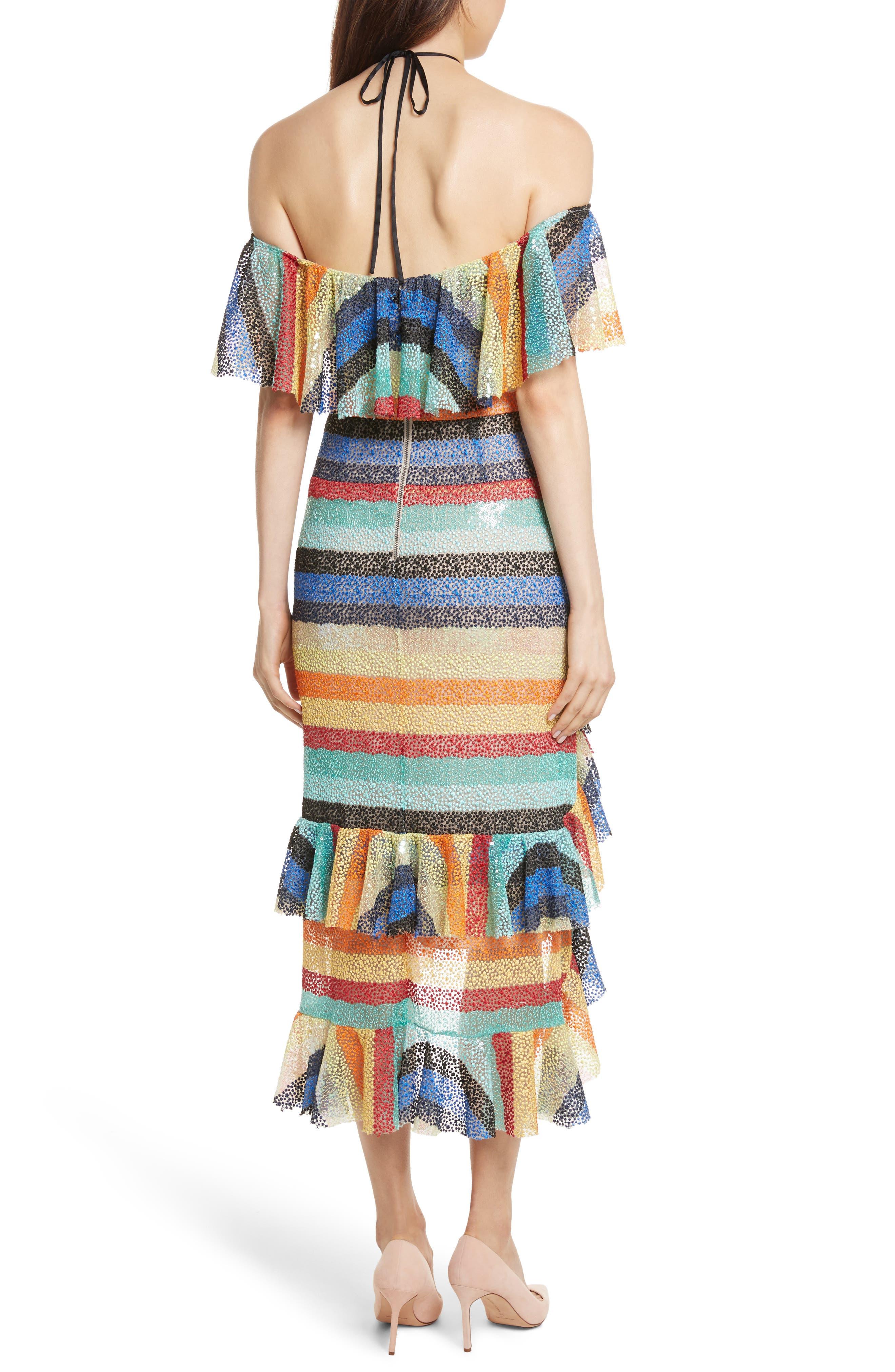 Annabeth Off the Shoulder Midi Dress,                             Alternate thumbnail 2, color,                             006