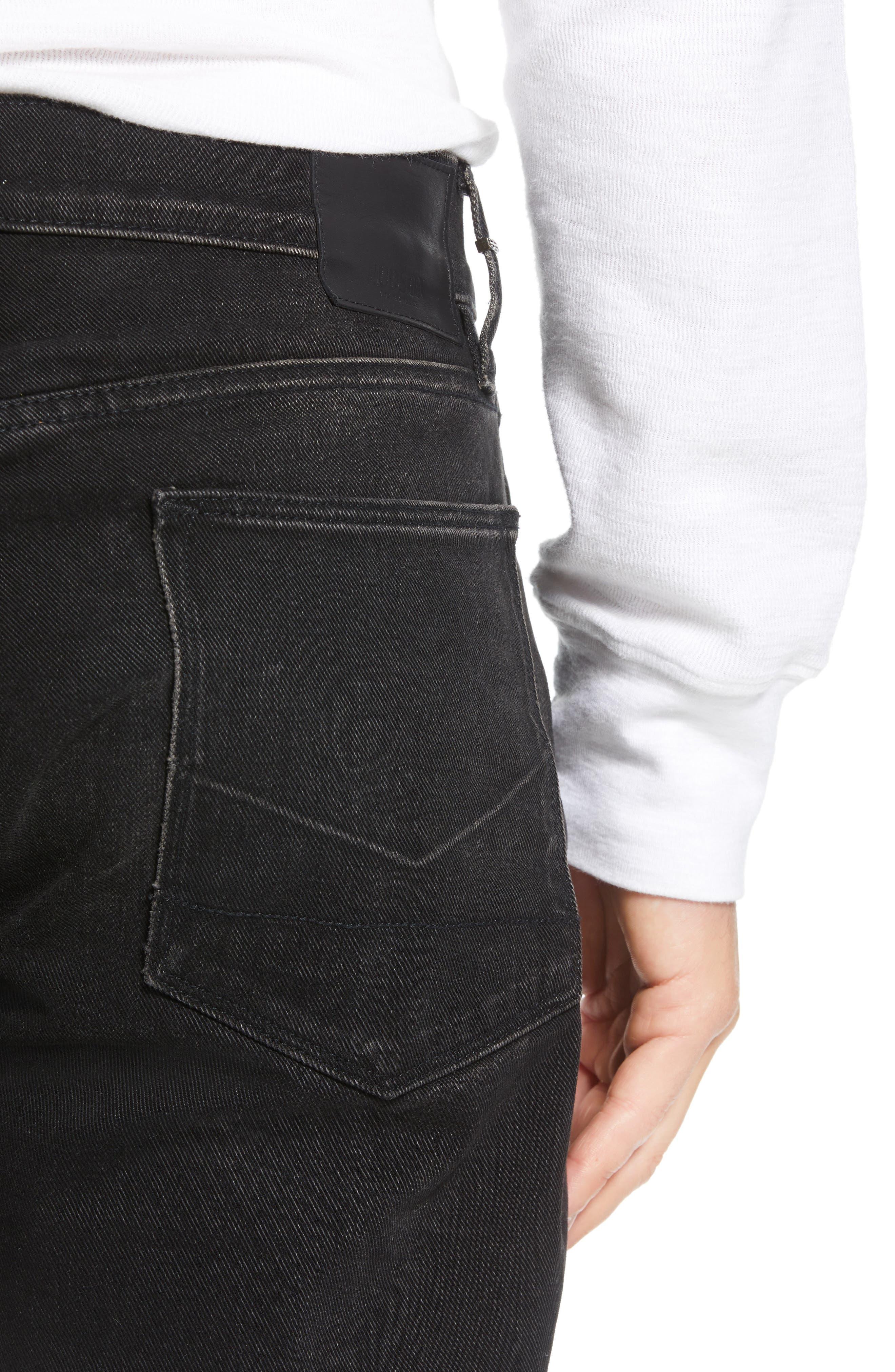 Dillon Straight Leg Jeans,                             Alternate thumbnail 4, color,                             001