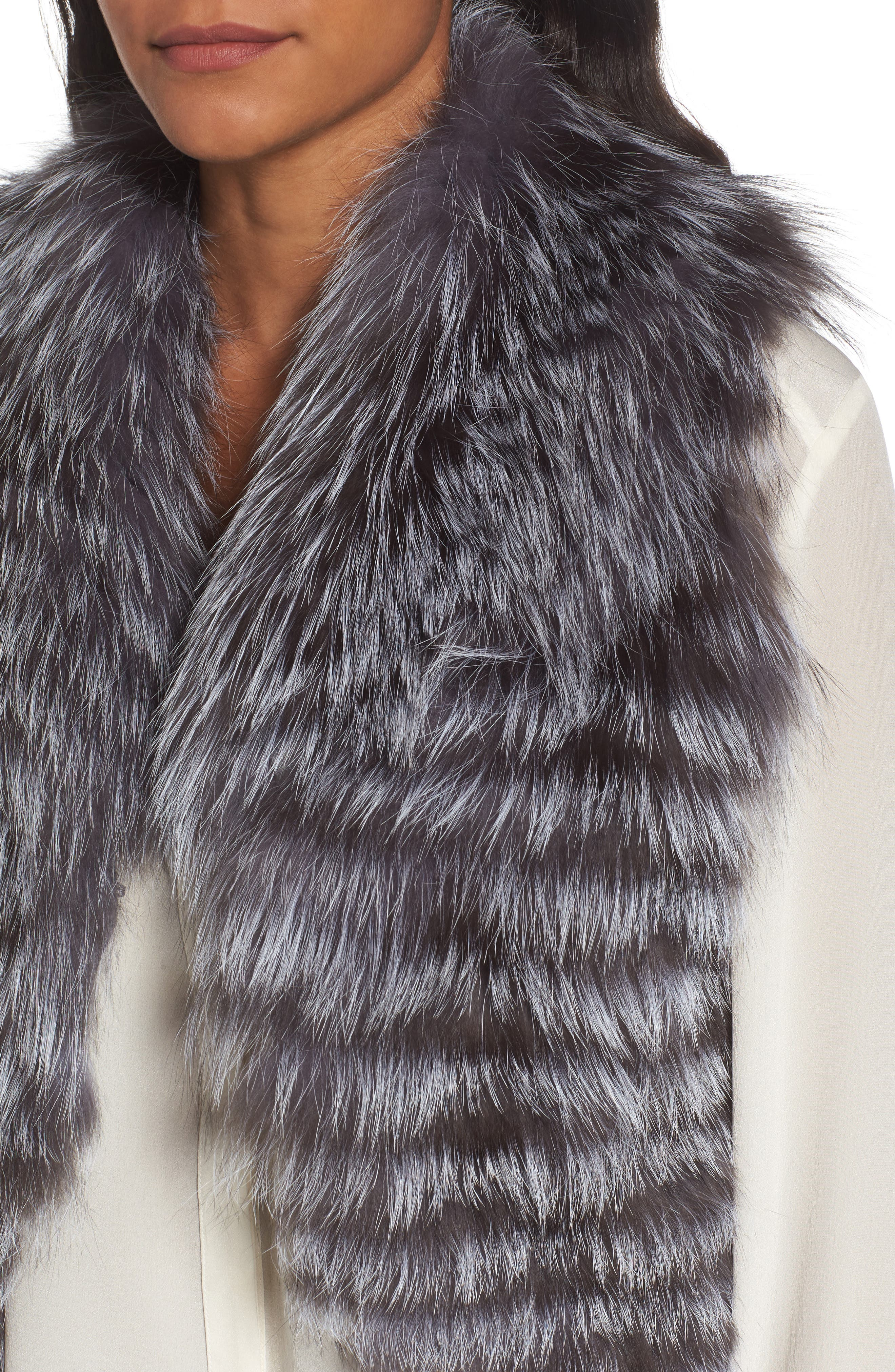 Genuine Fox Fur Vest,                             Alternate thumbnail 4, color,                             045