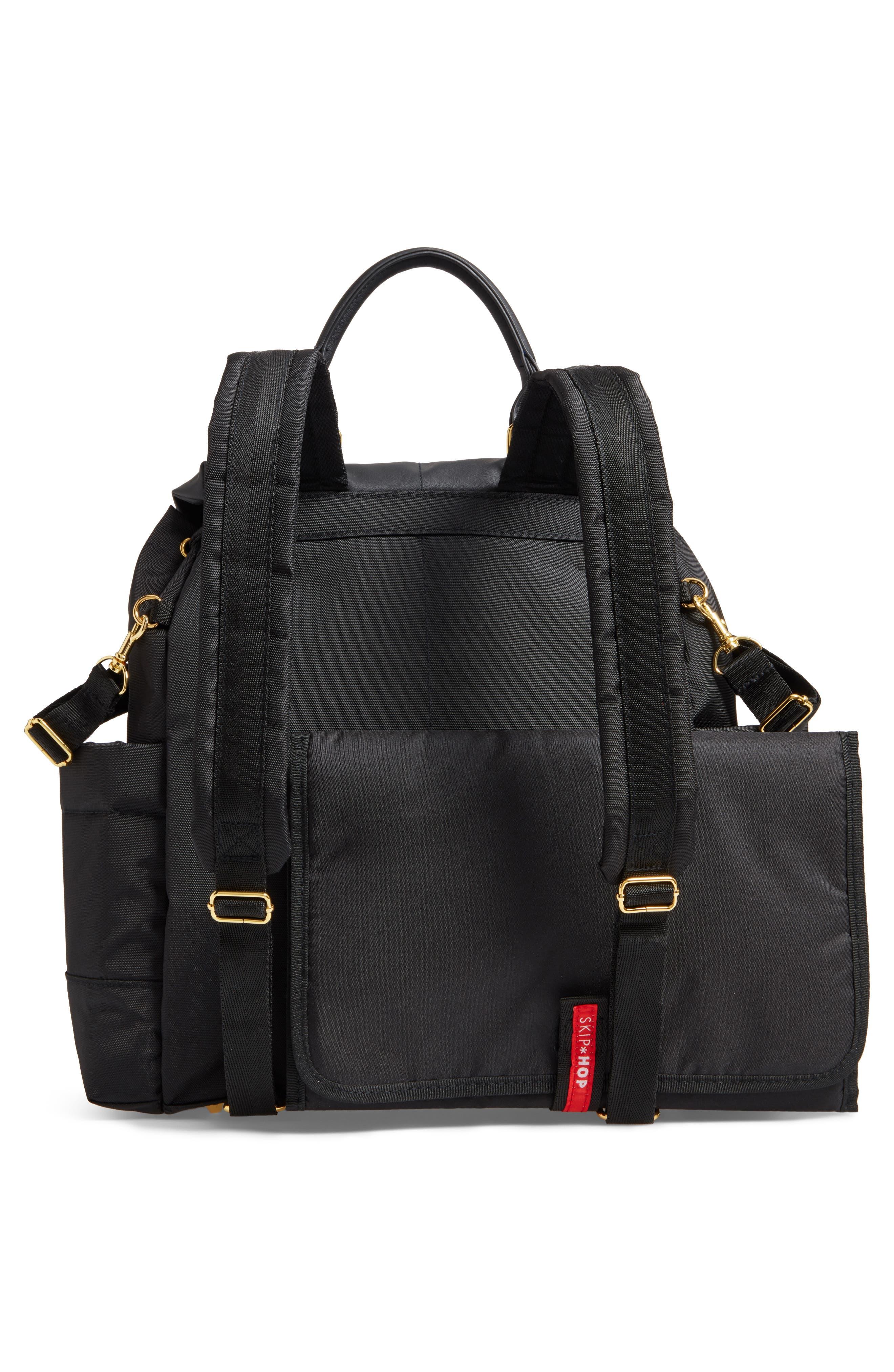 'Chelsea' Diaper Bag Backpack,                             Alternate thumbnail 3, color,                             BLACK
