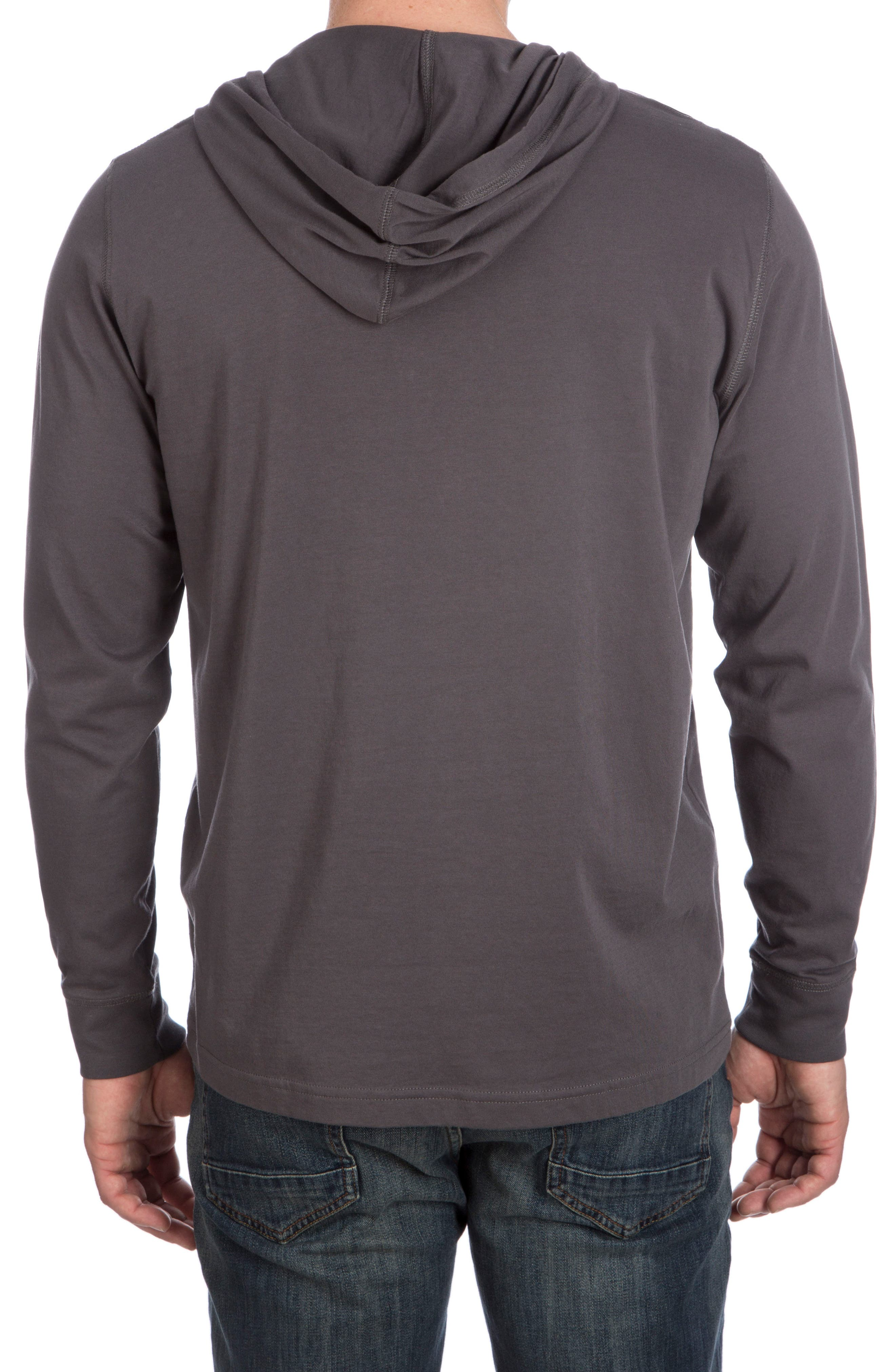 Delano Henley Hoodie,                             Alternate thumbnail 2, color,                             003