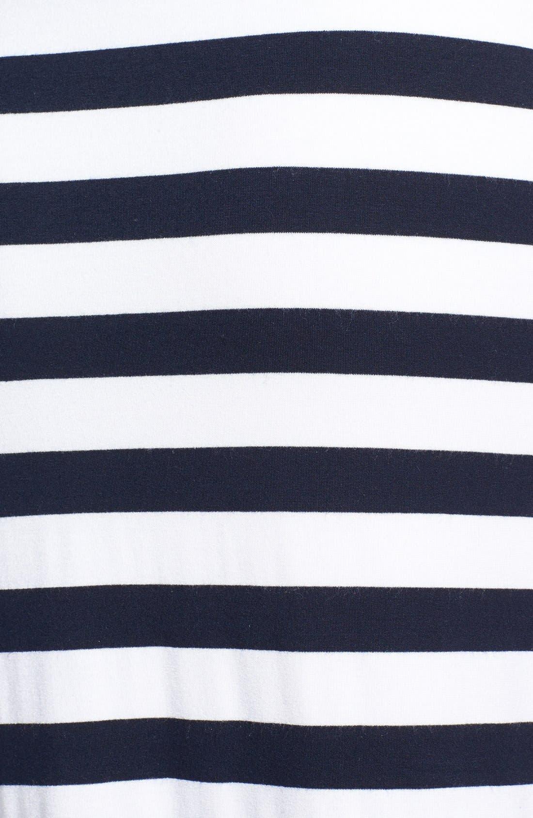 'Tattooed Love Goddess' Stripe Sheer Inset Maxi Dress,                             Alternate thumbnail 2, color,                             001