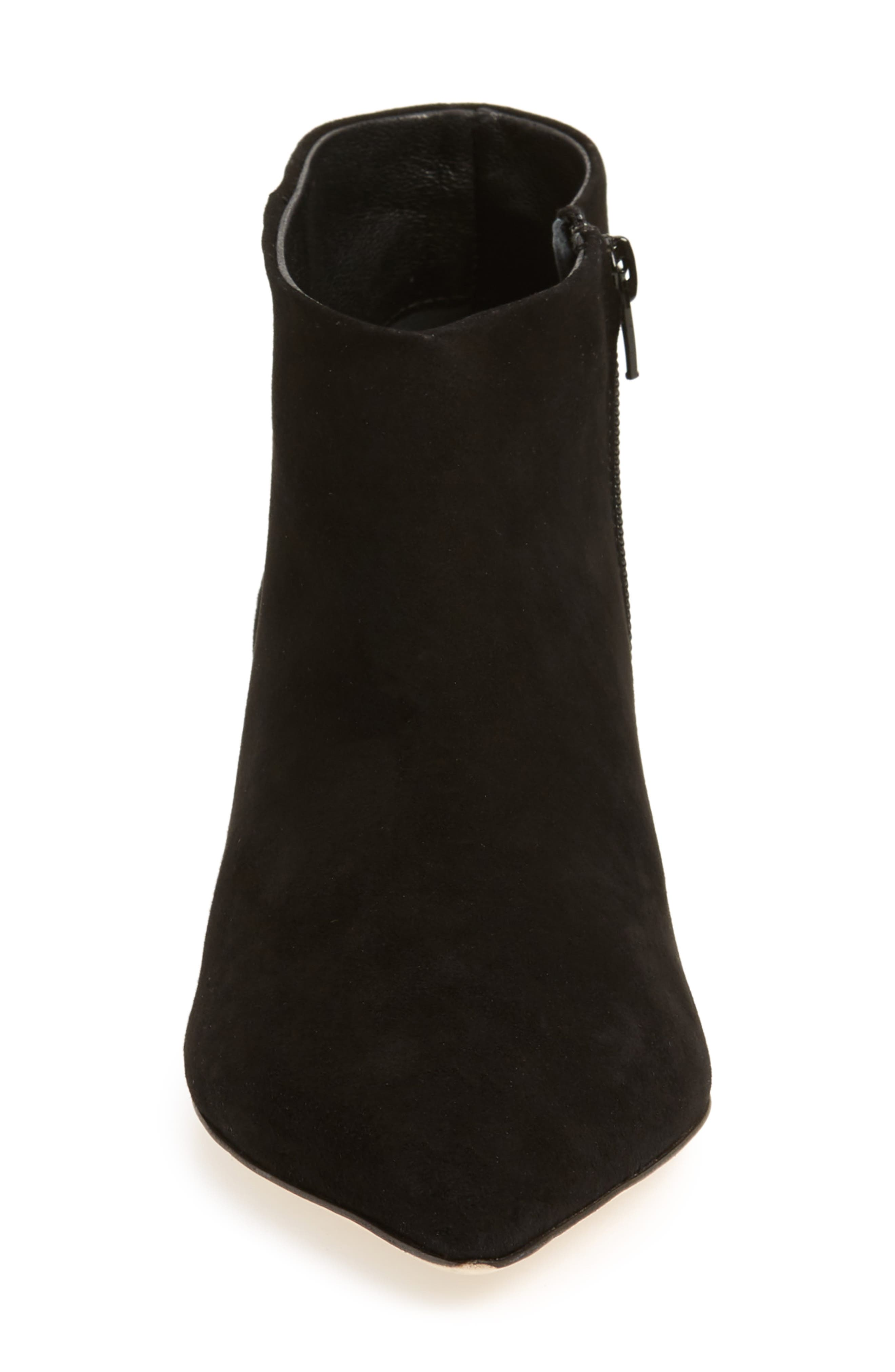 Butter Whistle Pointy Toe Bootie,                             Alternate thumbnail 4, color,                             001