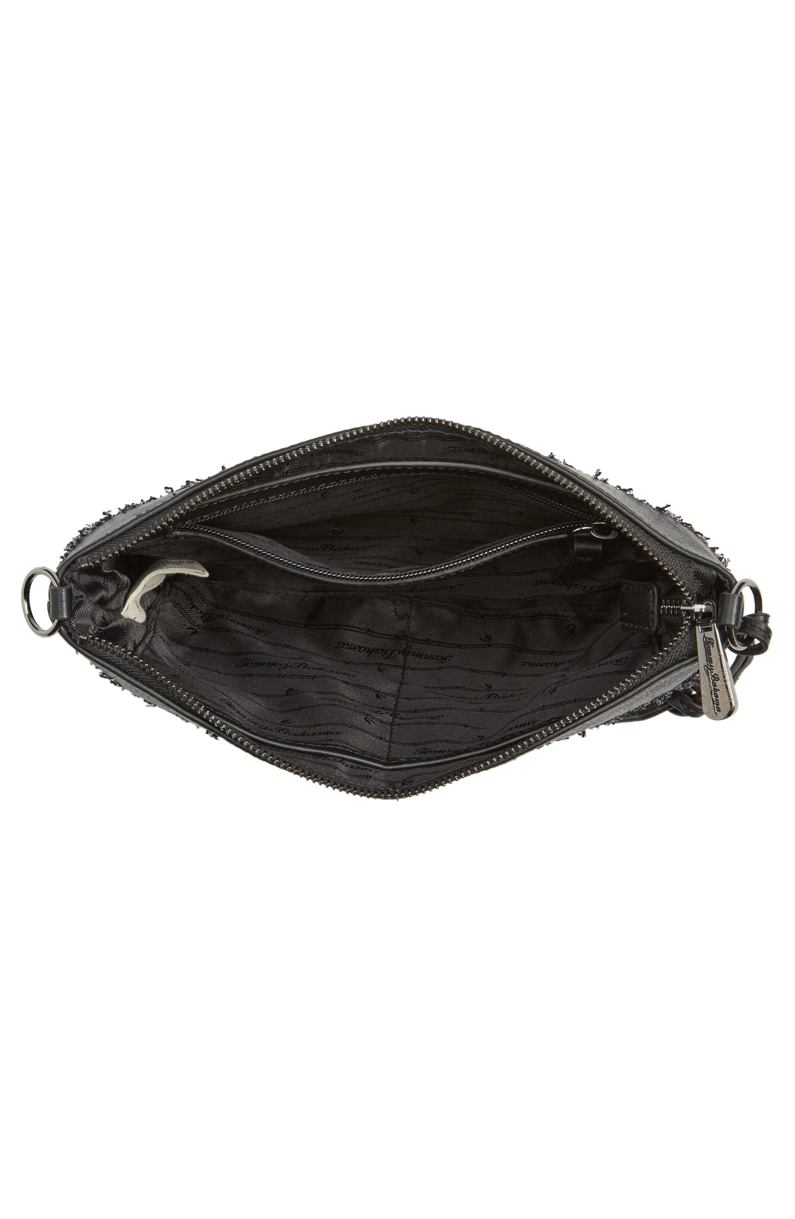Can Can Convertible Leather Crossbody Bag,                             Alternate thumbnail 4, color,                             001