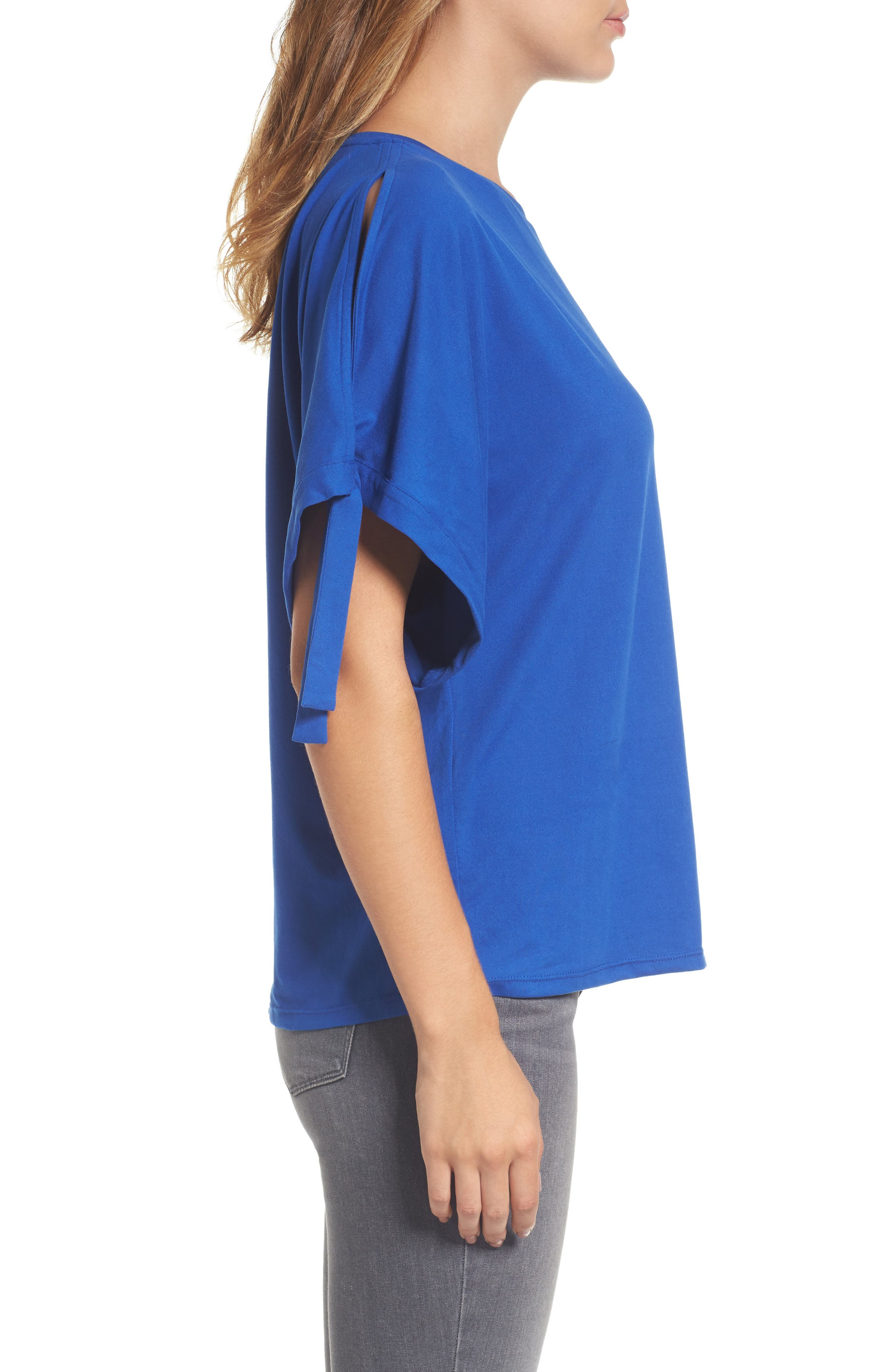 Stretch Knit Top,                             Alternate thumbnail 3, color,                             421