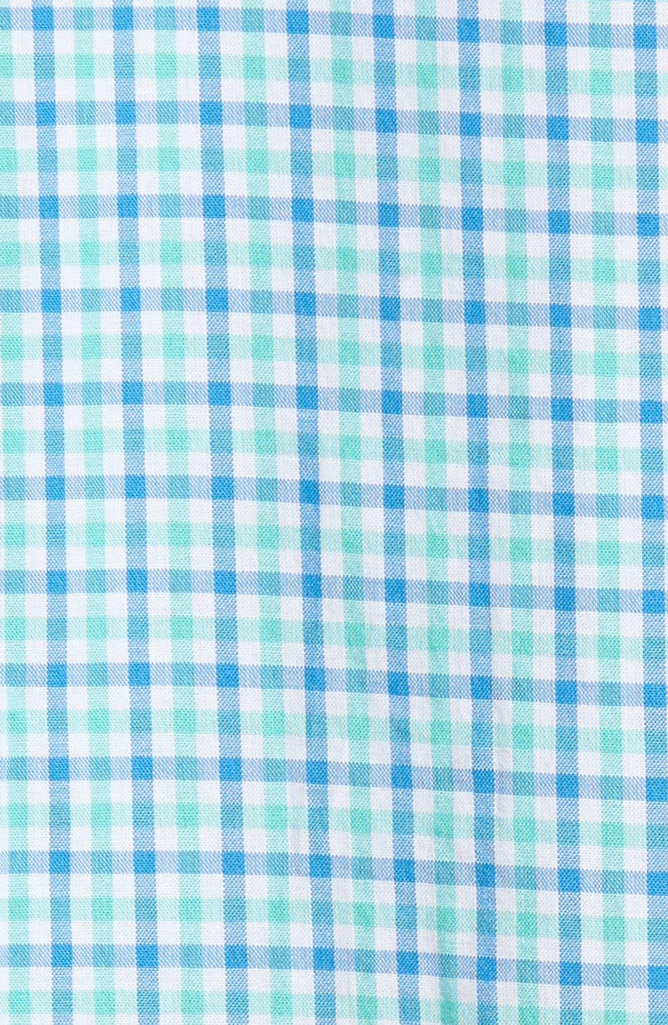 Tipsy Turtle Check Slim Fit Sport Shirt,                             Alternate thumbnail 13, color,