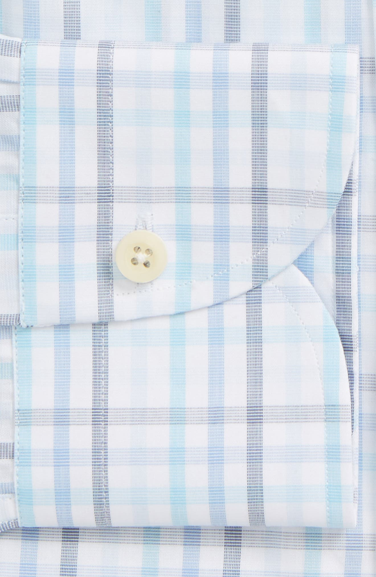 Pelton Slim Fit Check Dress Shirt,                             Alternate thumbnail 6, color,                             439