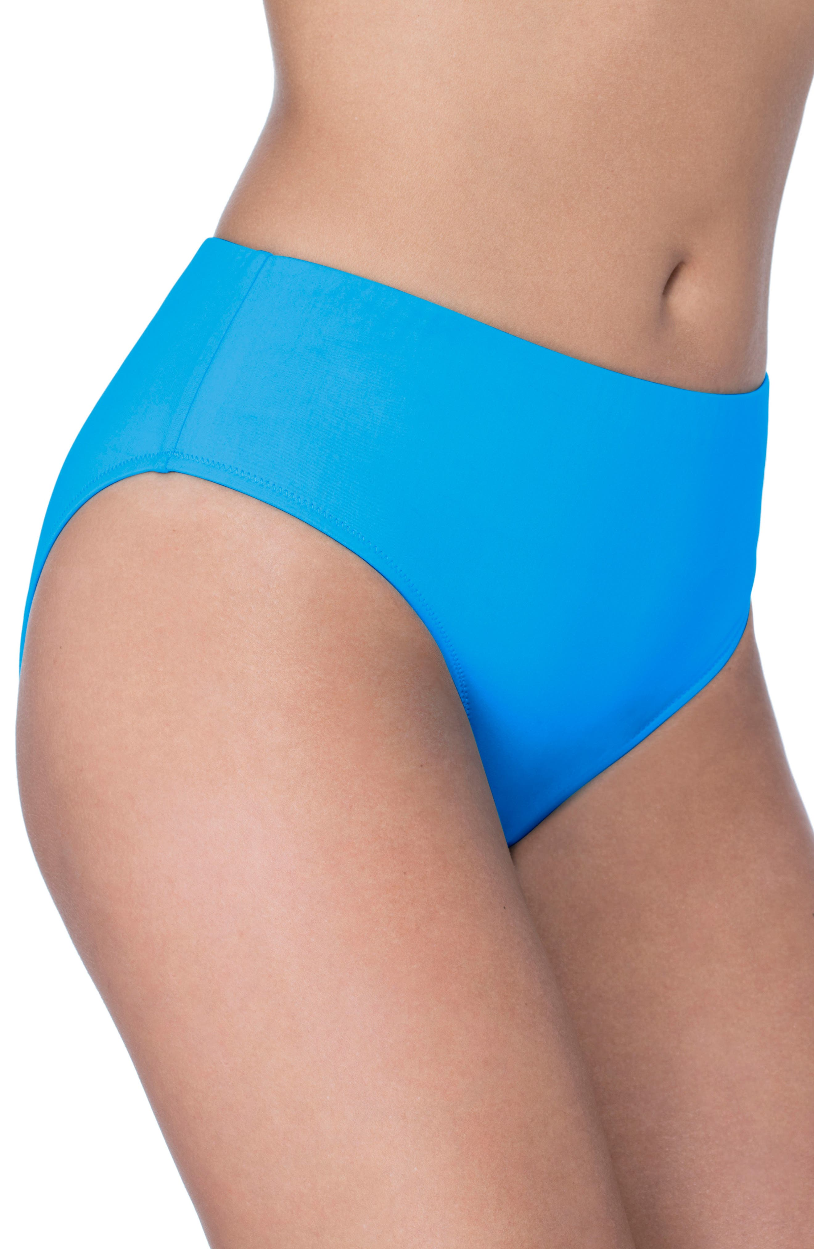 Hipster Bikini Bottoms,                             Alternate thumbnail 3, color,                             PEACOCK