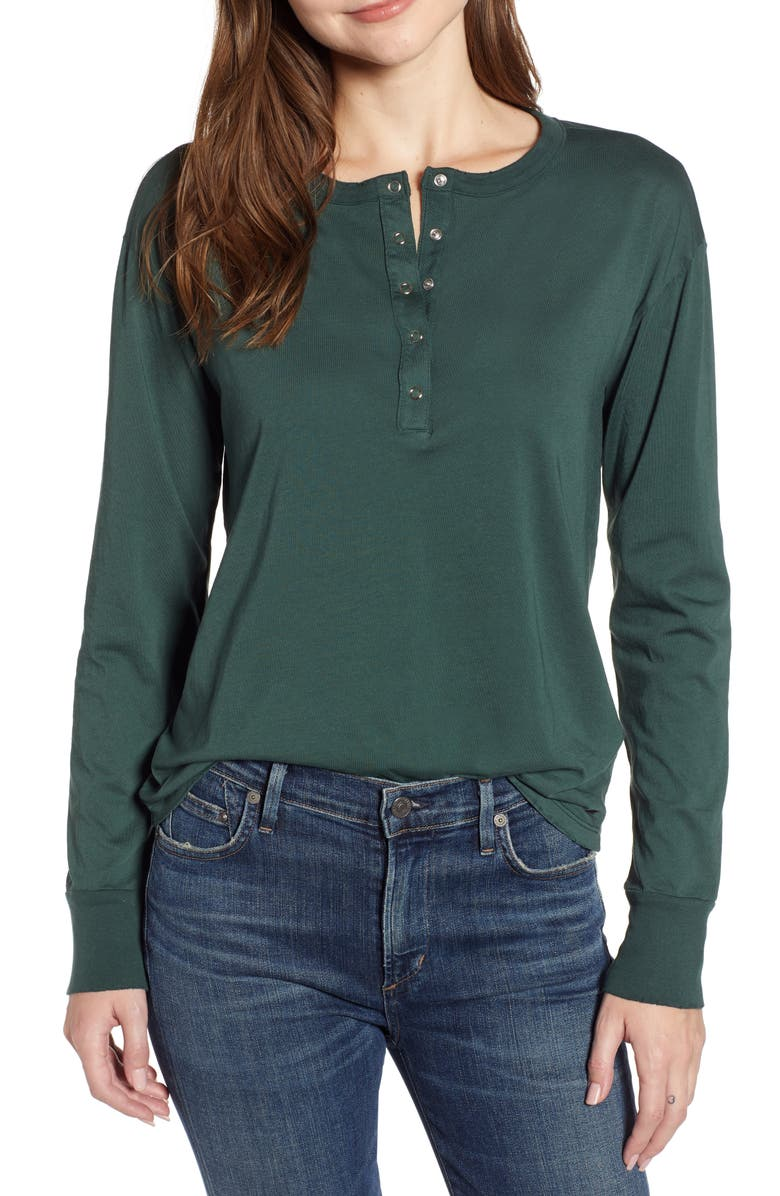 N:philanthropy JENNEL LONG SLEEVE HENLEY