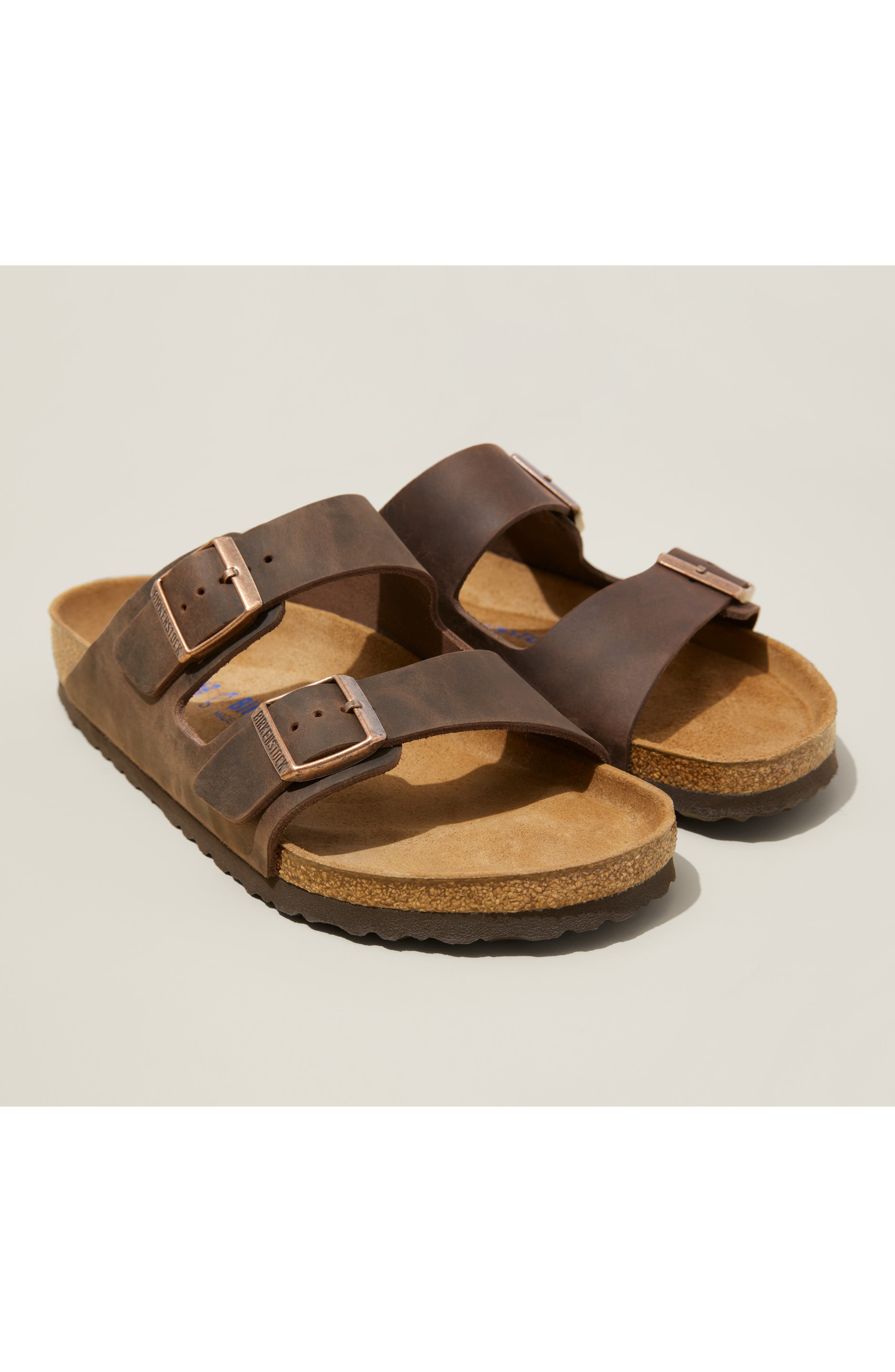 Birkenstock Arizona Soft Slide Sandal,10.5 - Blue