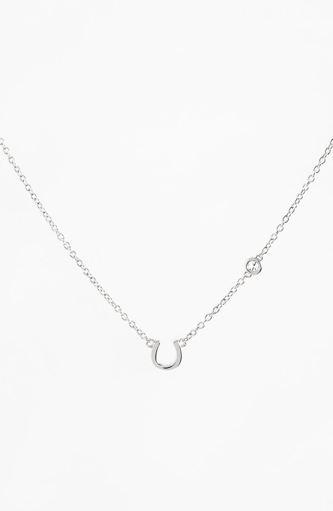 Shy by SE Horseshoe Necklace,                         Main,                         color, 040