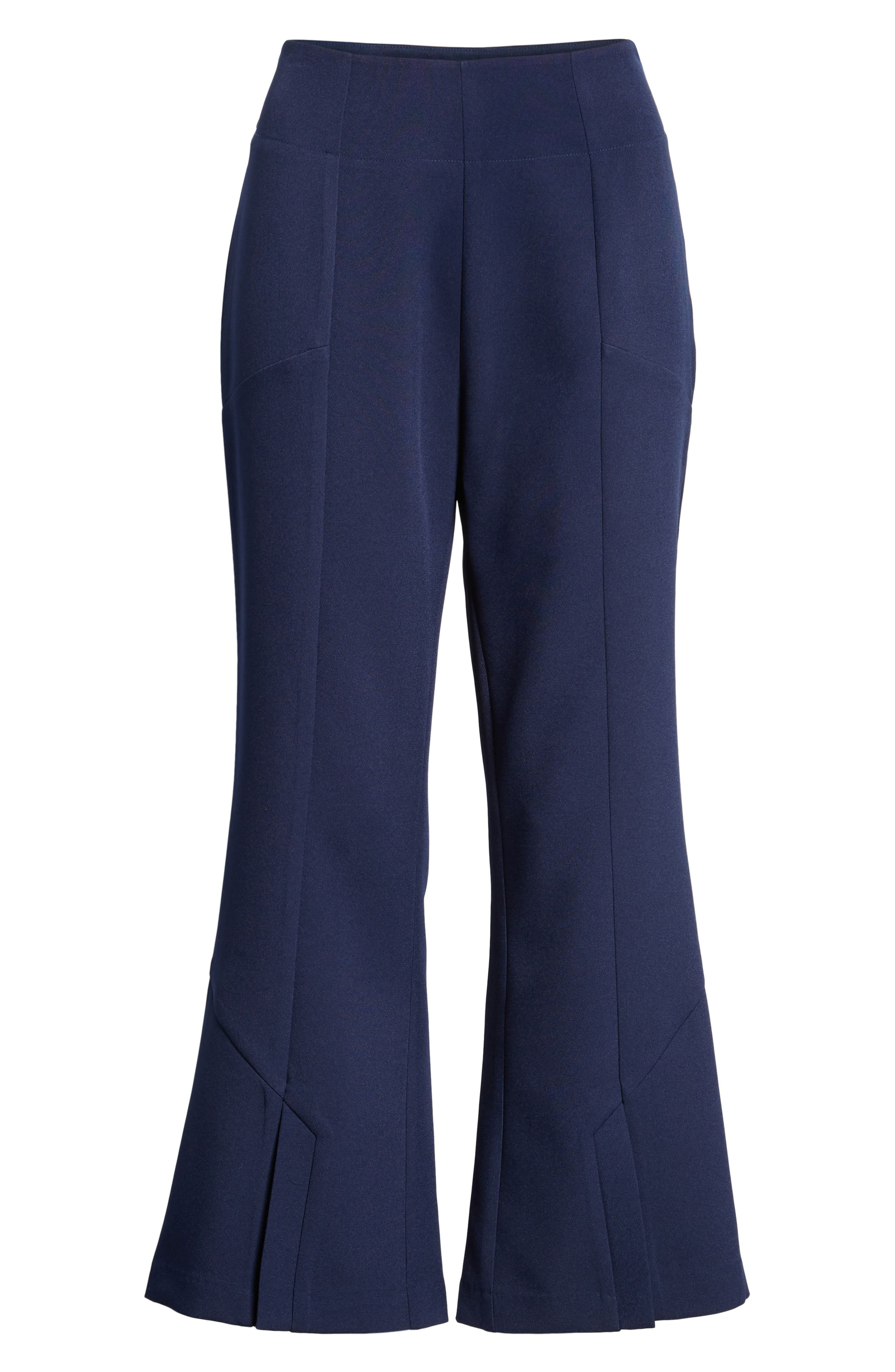 High Waist Crop Flare Pants,                             Alternate thumbnail 7, color,