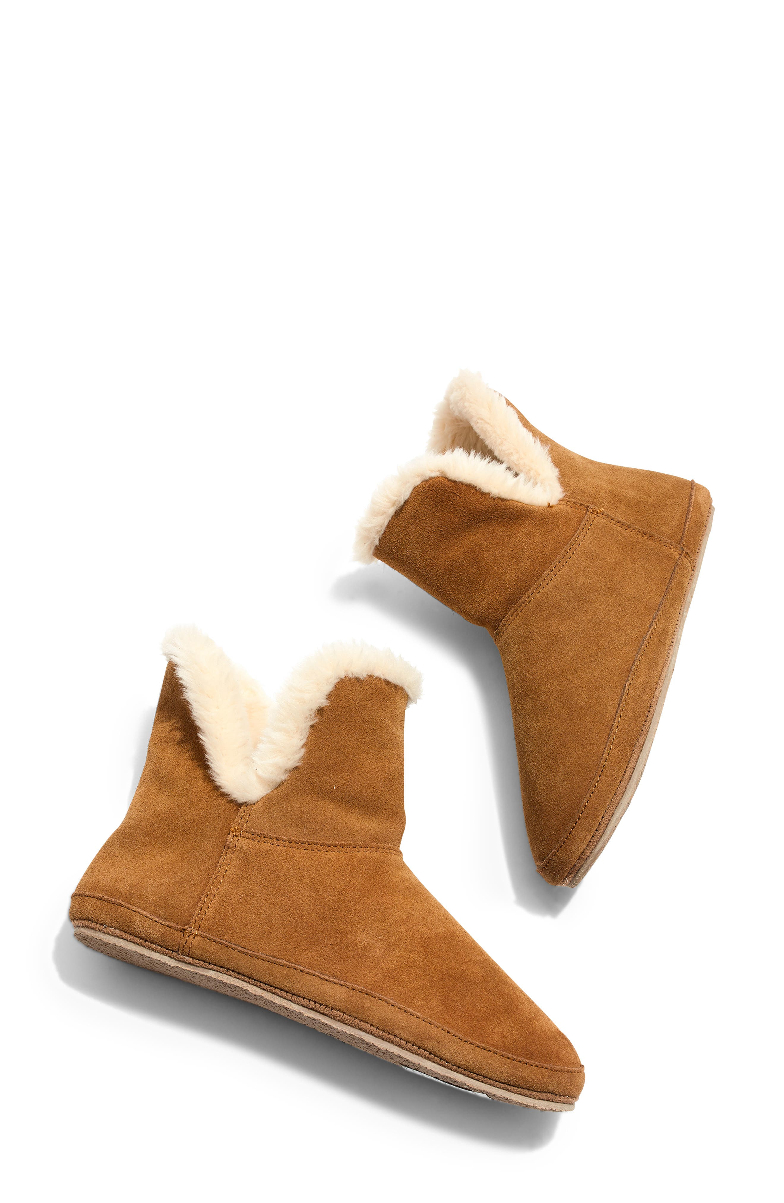 The Suede Slipper Bootie,                             Main thumbnail 1, color,                             200