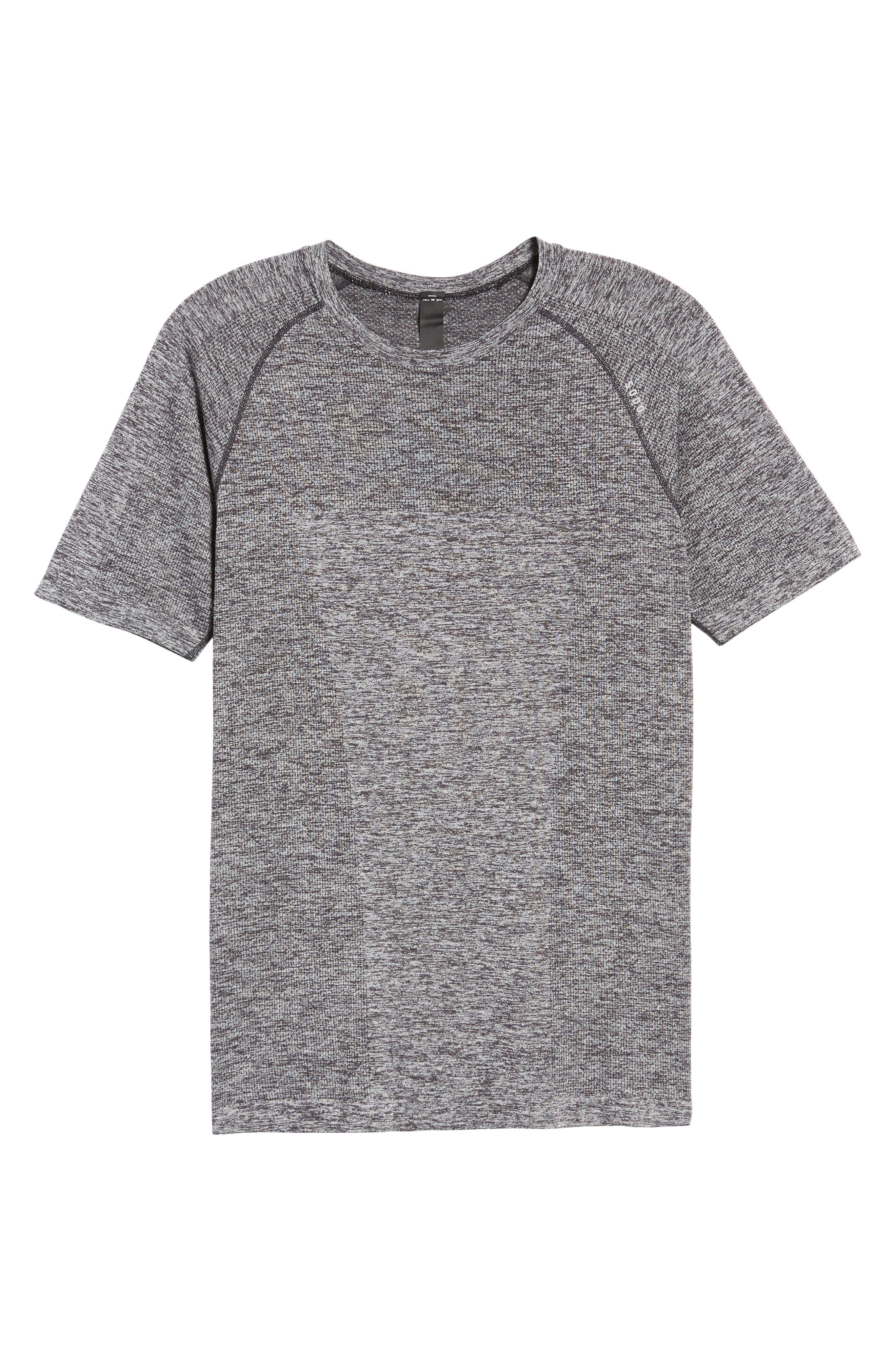 Seamless Crewneck Performance T-Shirt,                             Alternate thumbnail 6, color,                             012