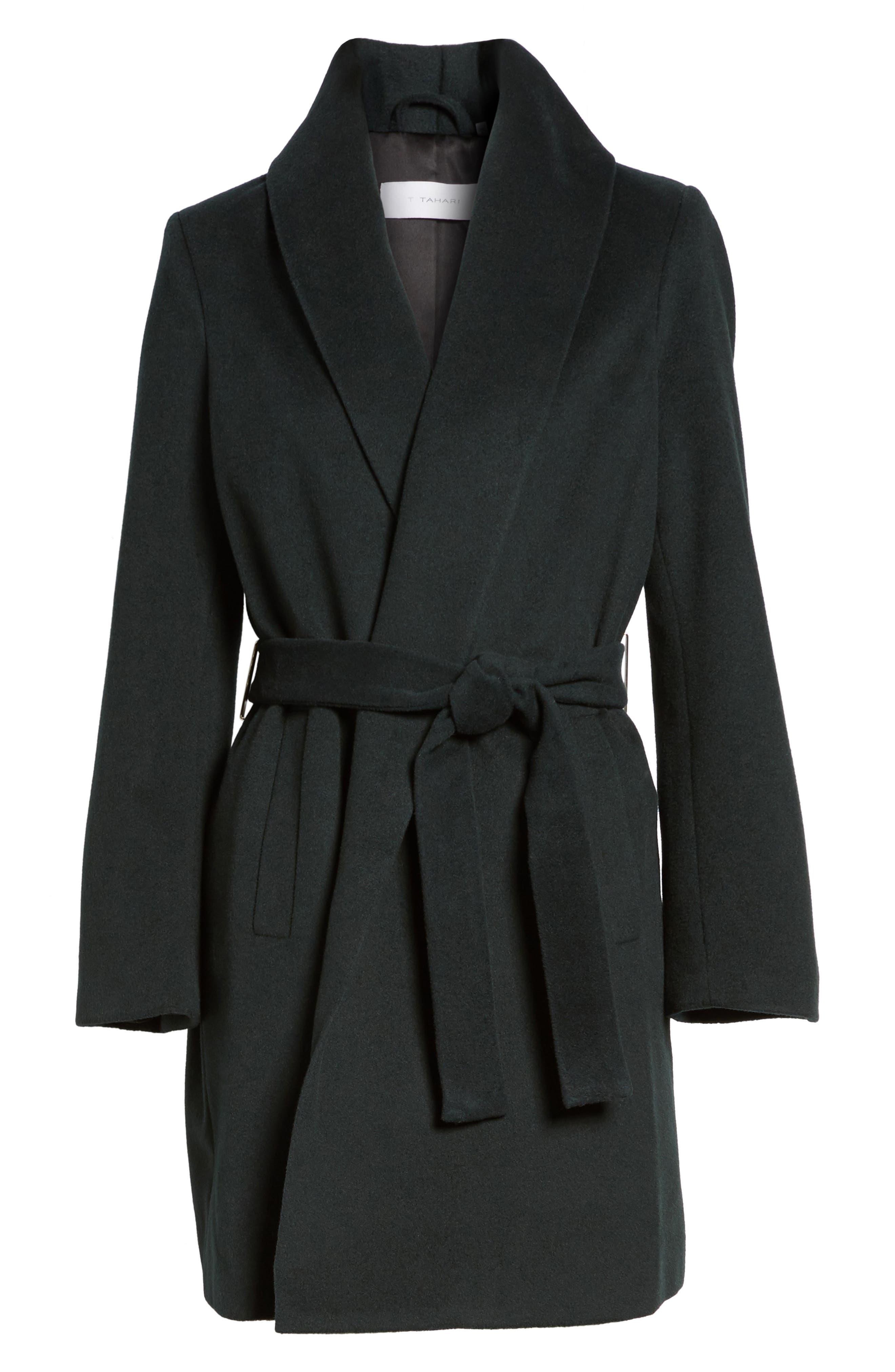 Gabrielle Wool Blend Long Wrap Coat,                             Alternate thumbnail 5, color,                             354