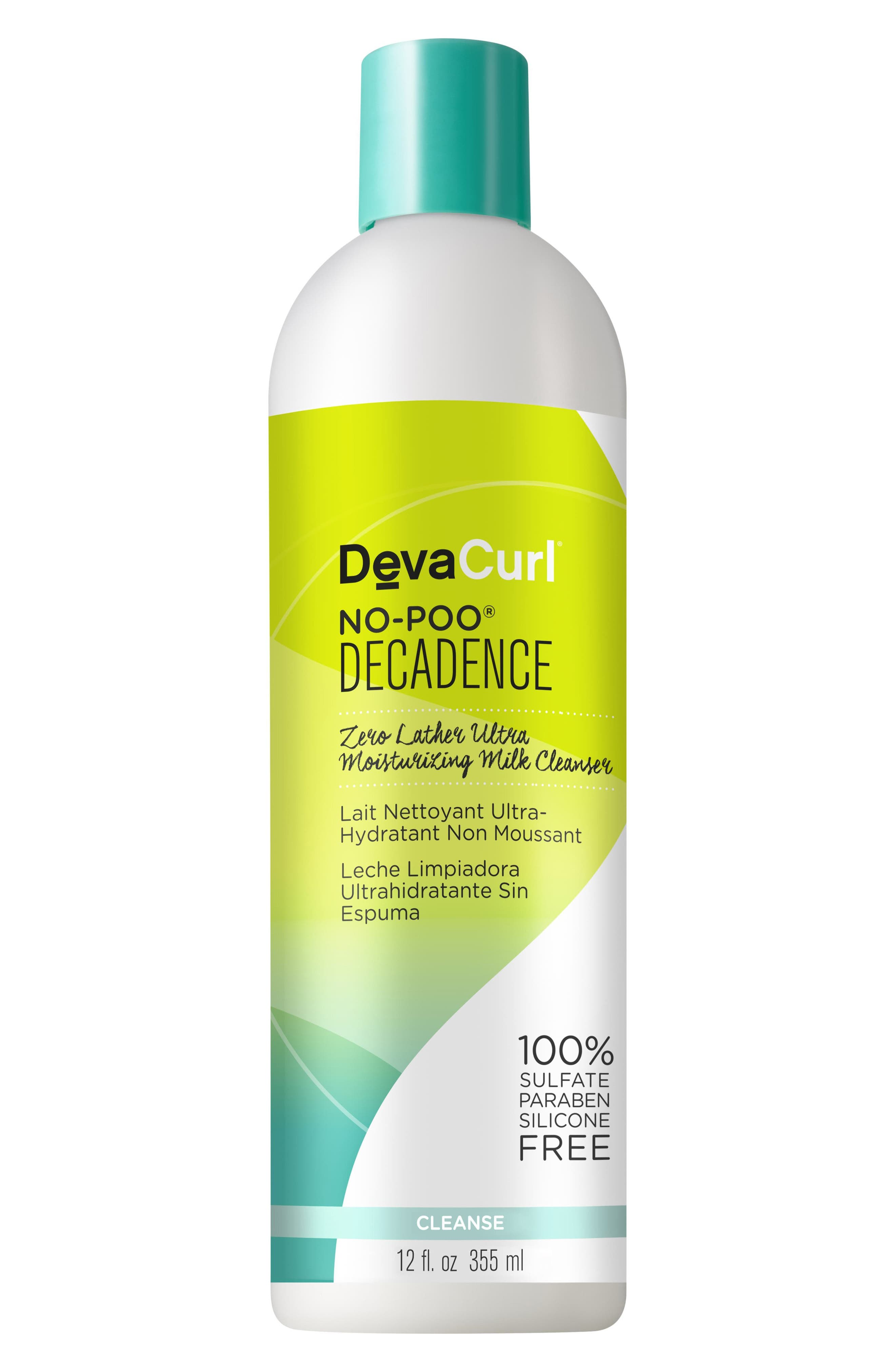 DEVACURL,                             No-Poo<sup>®</sup> Decadence Zero Lather Ultra Moisturizing Milk Cleanser,                             Main thumbnail 1, color,                             NO COLOR