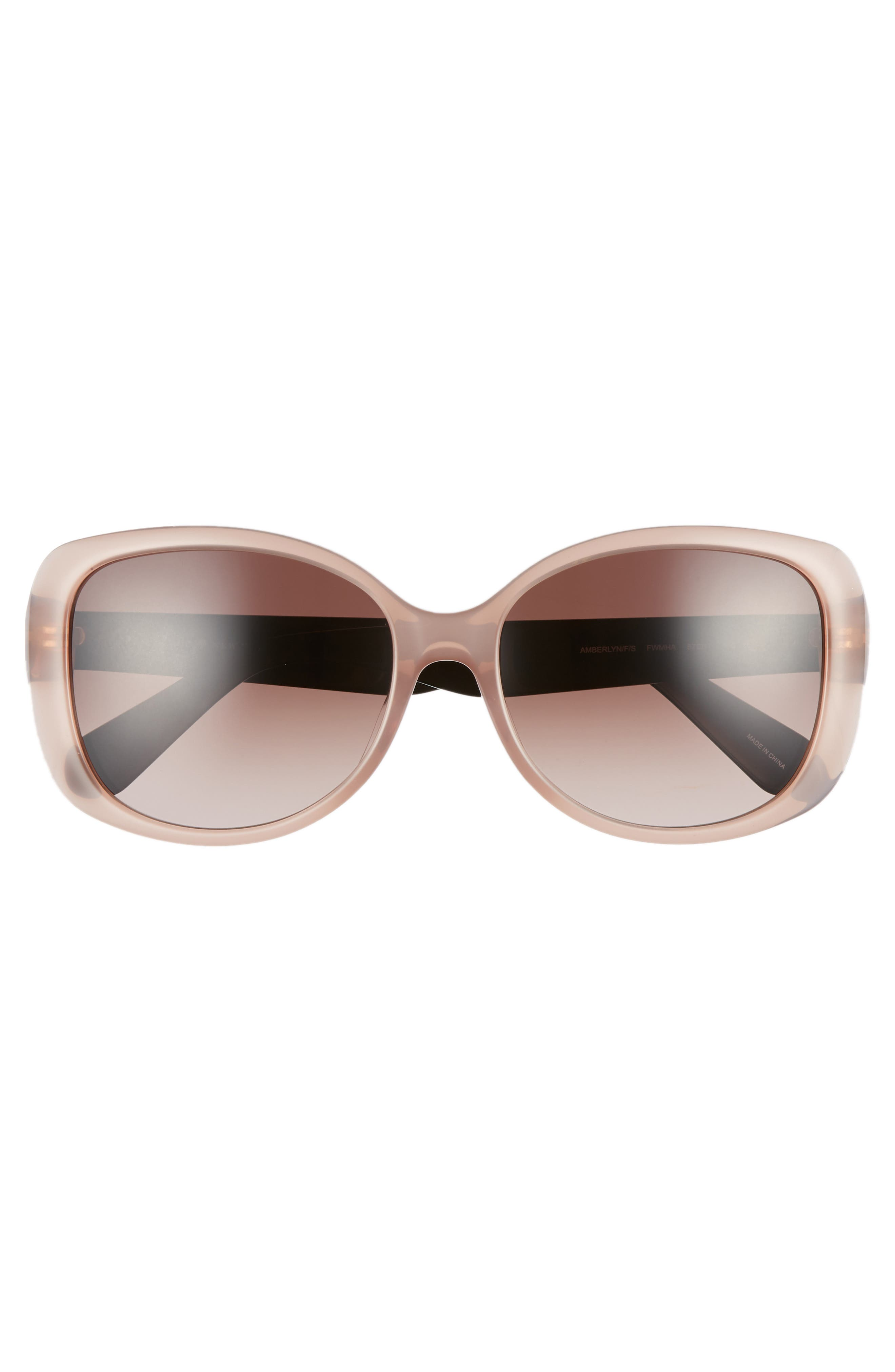 amberlyn 57mm special fit square sunglasses,                             Alternate thumbnail 3, color,                             NUDE