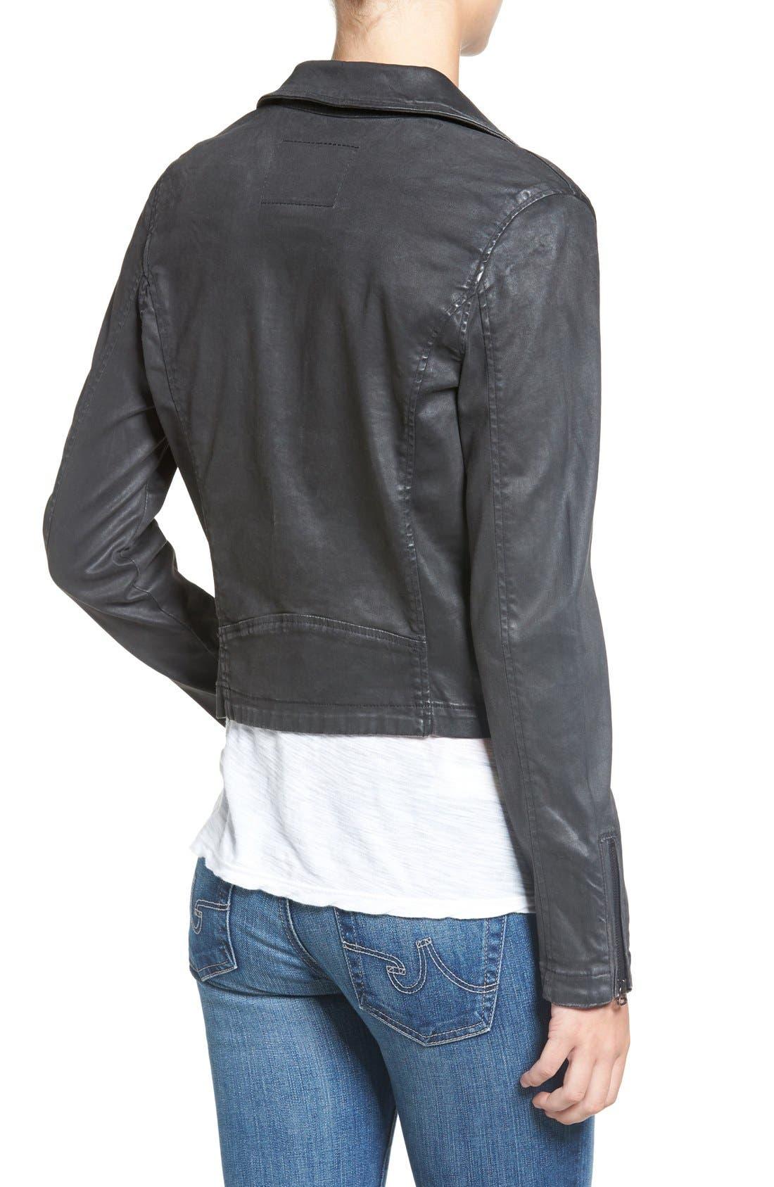 The Moto Coated Denim Jacket,                             Alternate thumbnail 2, color,                             012
