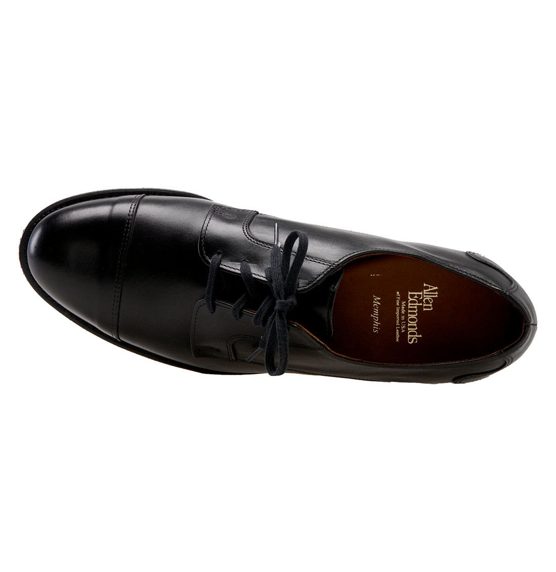 ALLEN EDMONDS,                             'Memphis' Cap Toe Oxford,                             Alternate thumbnail 3, color,                             001