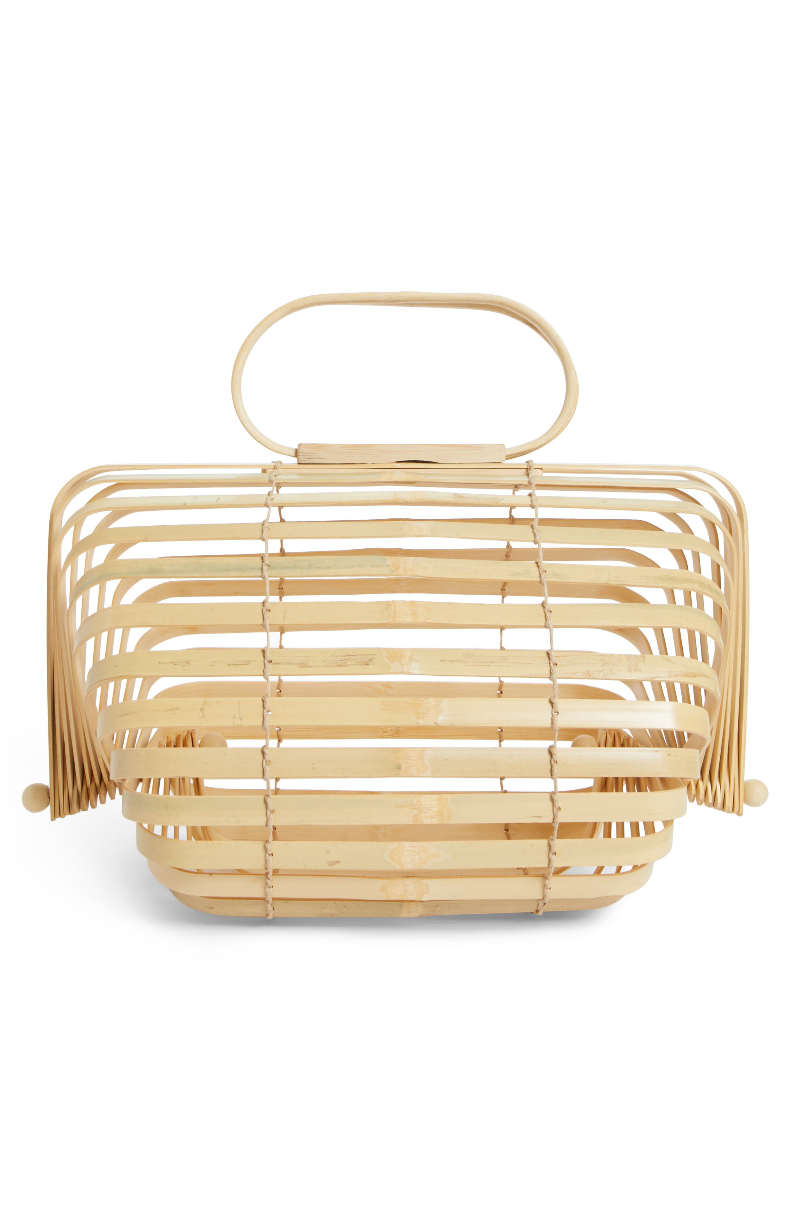 The Lilleth Bamboo Handbag,                             Alternate thumbnail 3, color,                             NATURAL