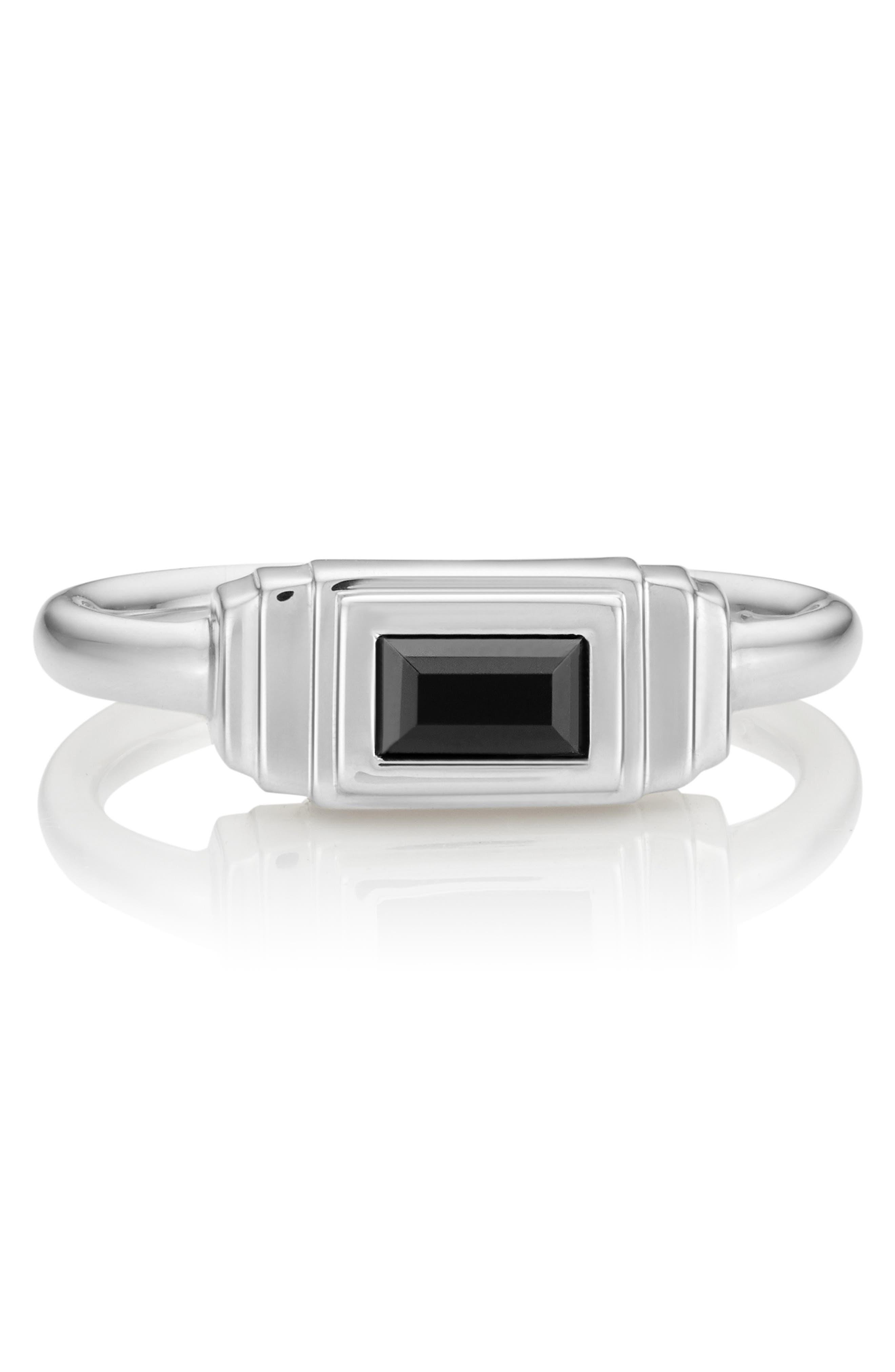 Baja Deco Semiprecious Stone Ring,                             Alternate thumbnail 5, color,                             001