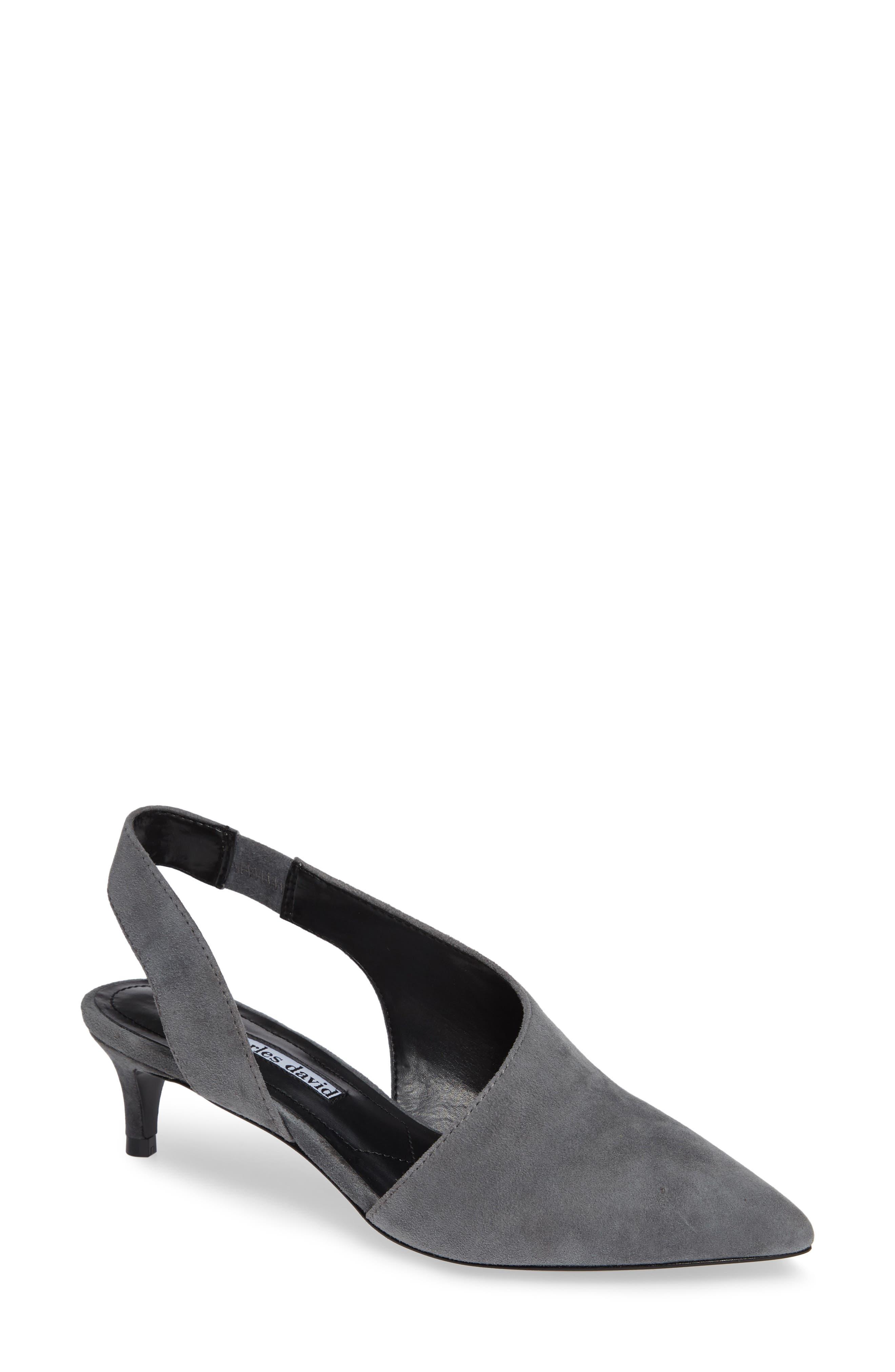 Charles David Picasso Asymmetrical Slingback Pump, Grey