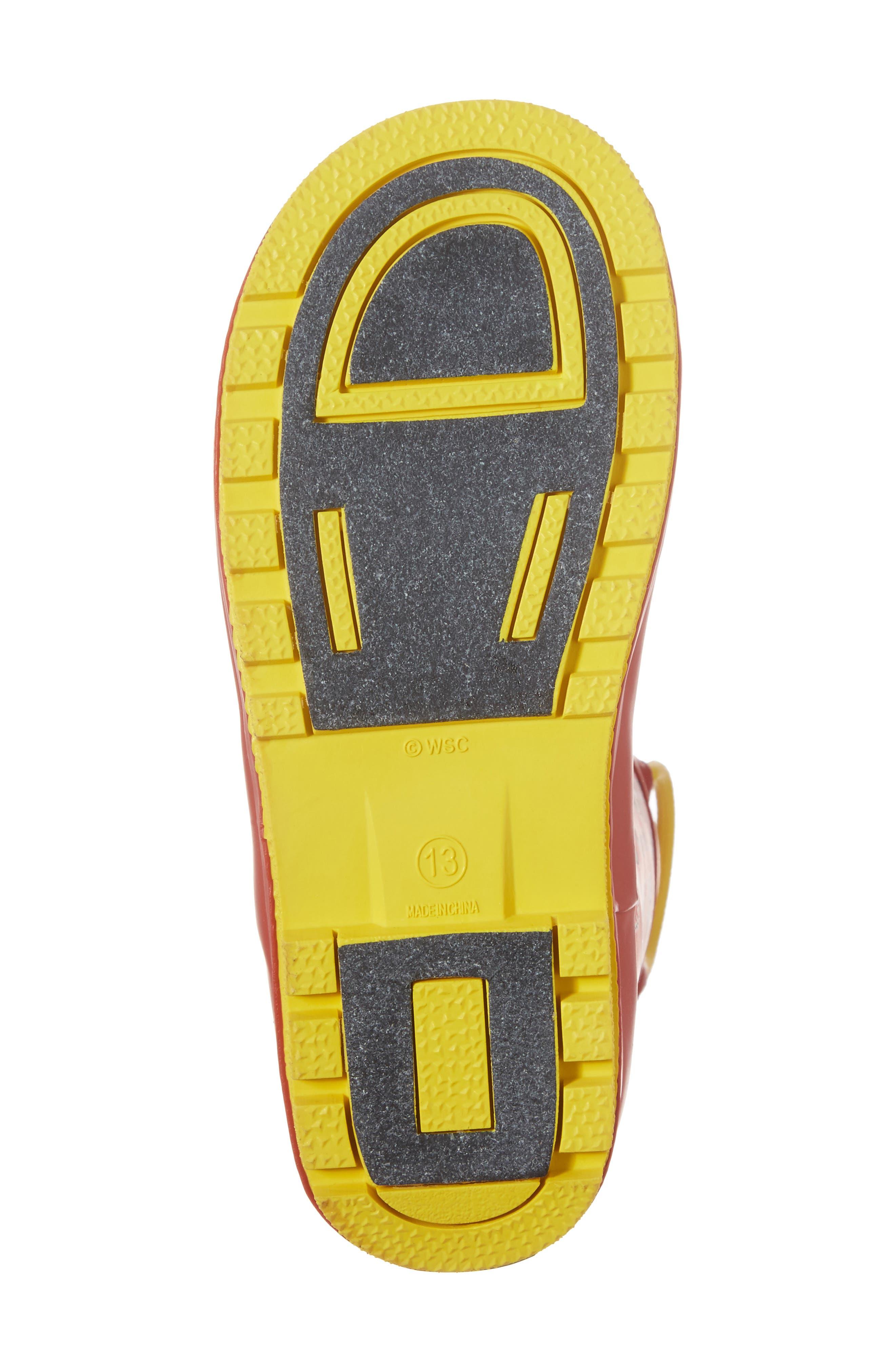 Cars<sup>®</sup> Lightning Fast Waterproof Rain Boot,                             Alternate thumbnail 6, color,                             610