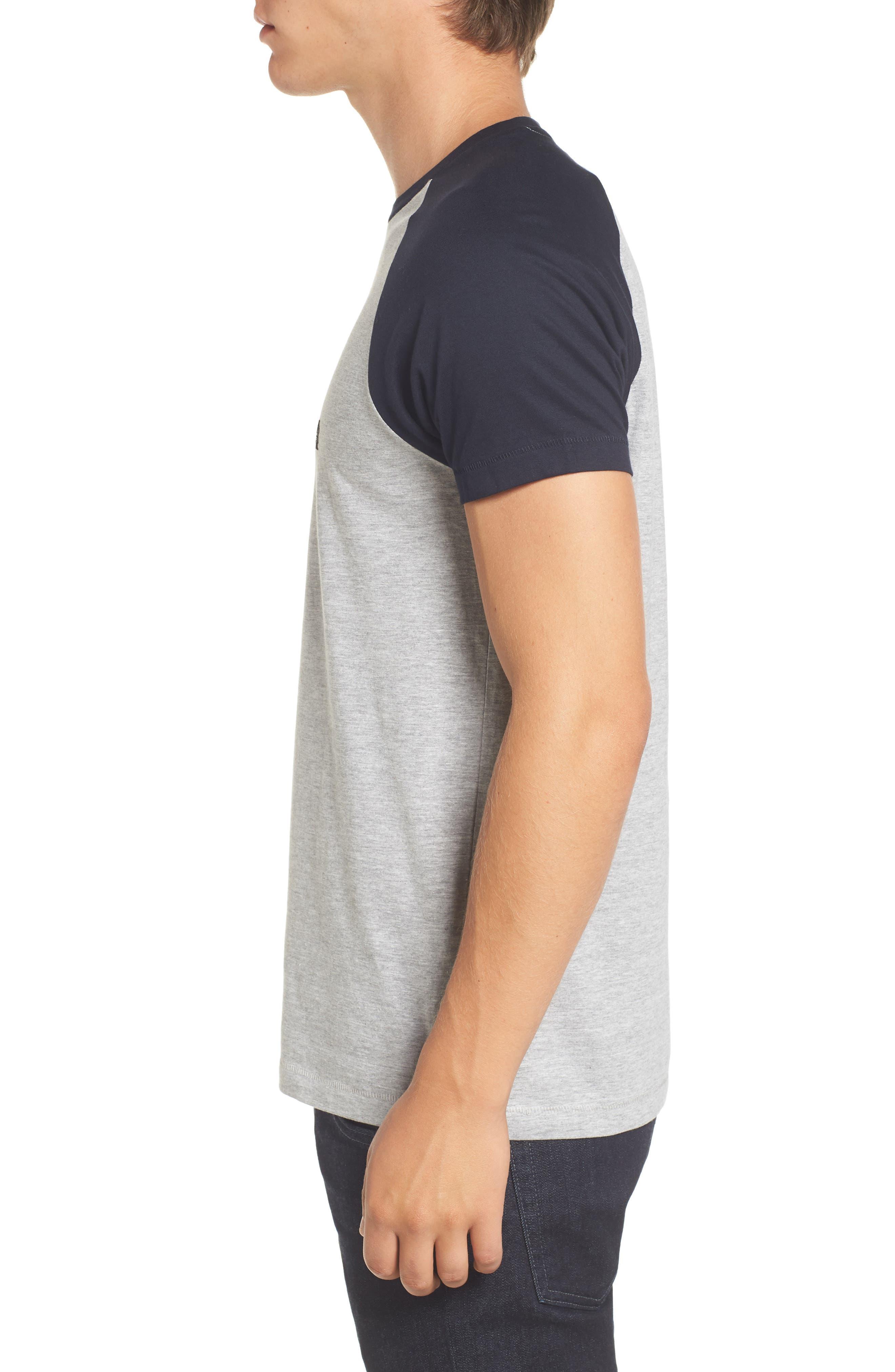 Raglan Short Sleeve T-Shirt,                             Alternate thumbnail 3, color,                             052