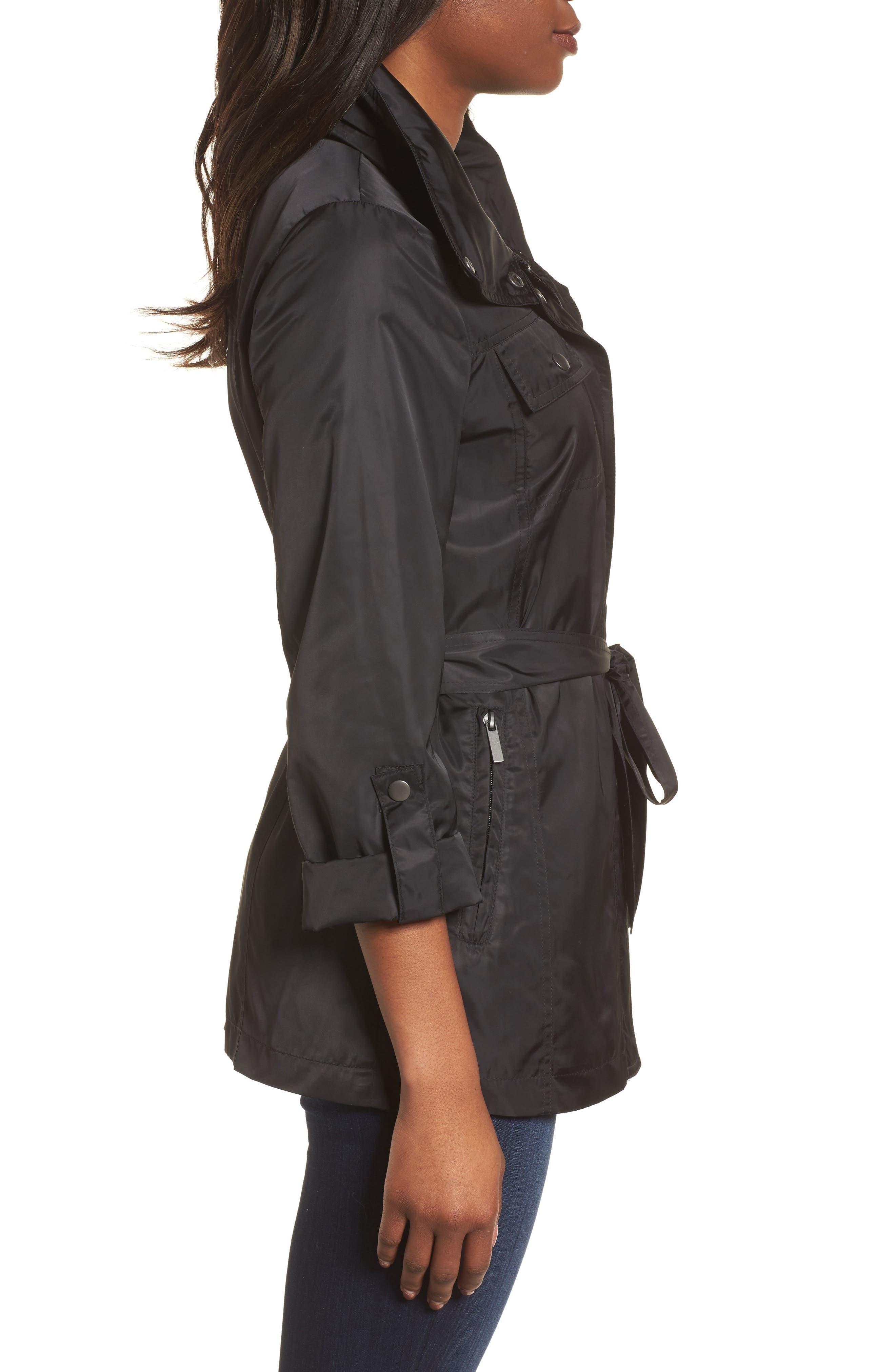 Belted Lightweight Jacket,                             Alternate thumbnail 3, color,                             001