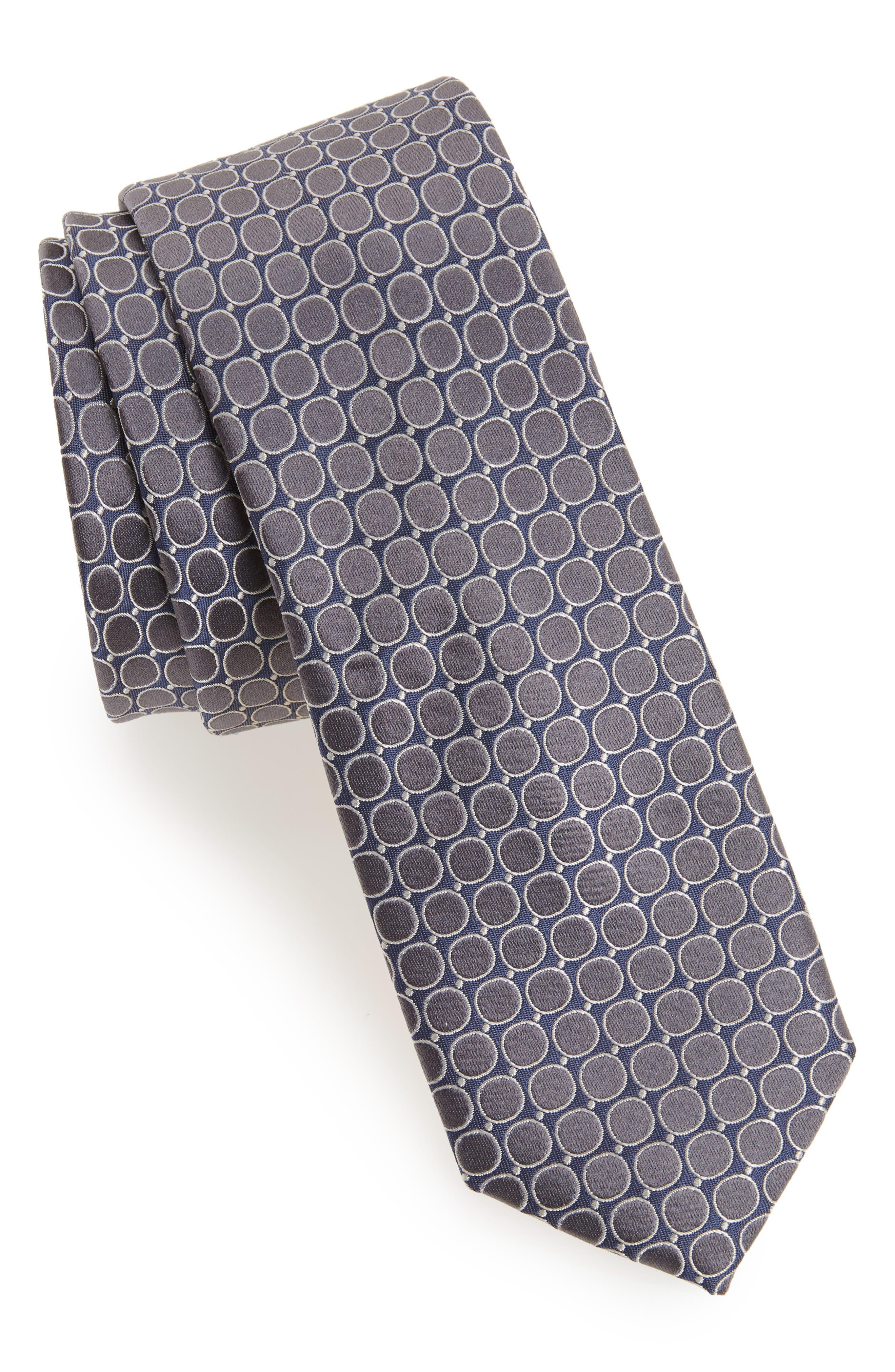 Bubble Dot Silk Tie,                             Main thumbnail 1, color,                             040