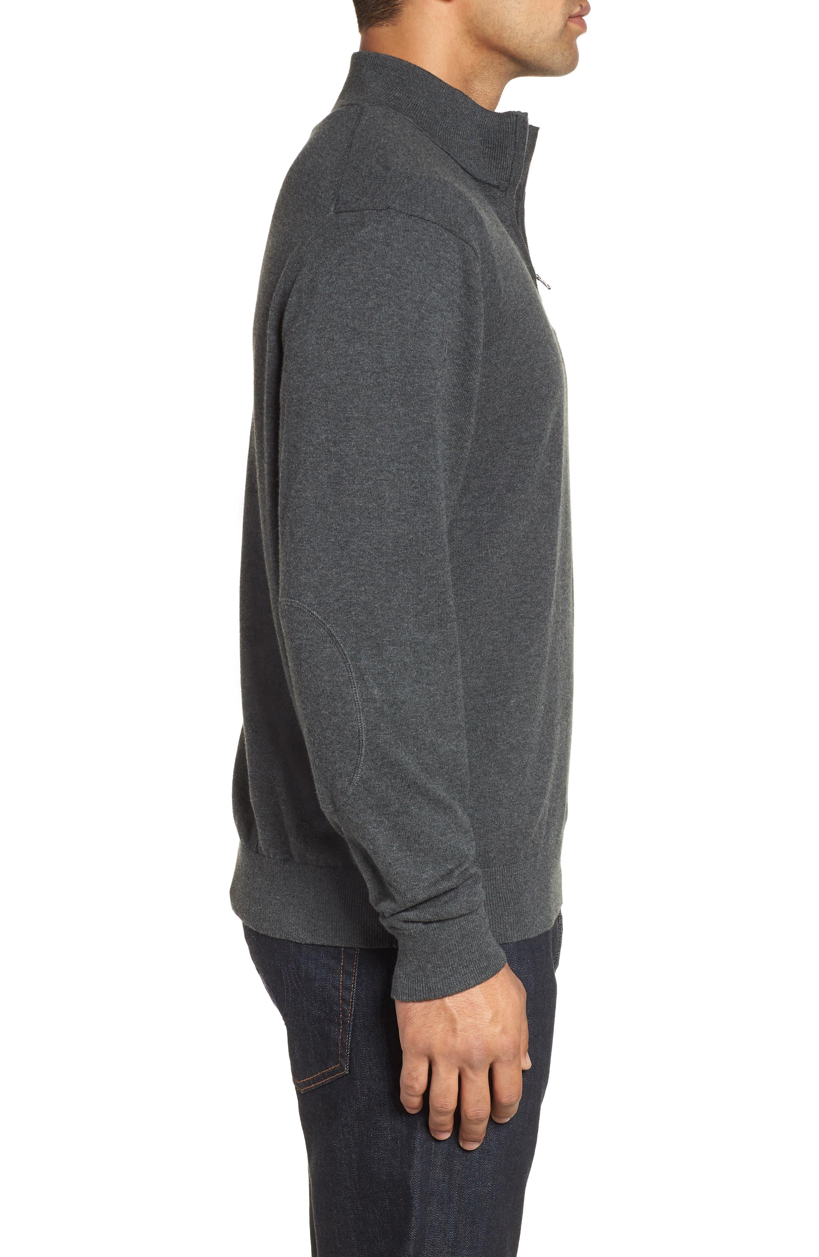 Denver Broncos - Lakemont Regular Fit Quarter Zip Sweater,                             Alternate thumbnail 3, color,                             018