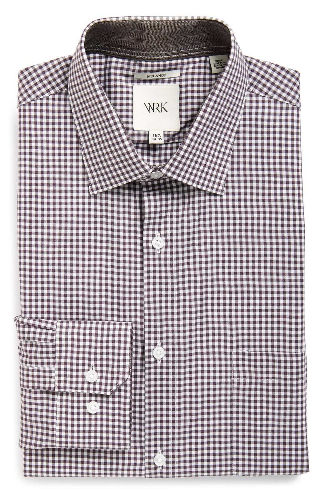 Extra Trim Fit Check Dress Shirt,                             Main thumbnail 1, color,                             501
