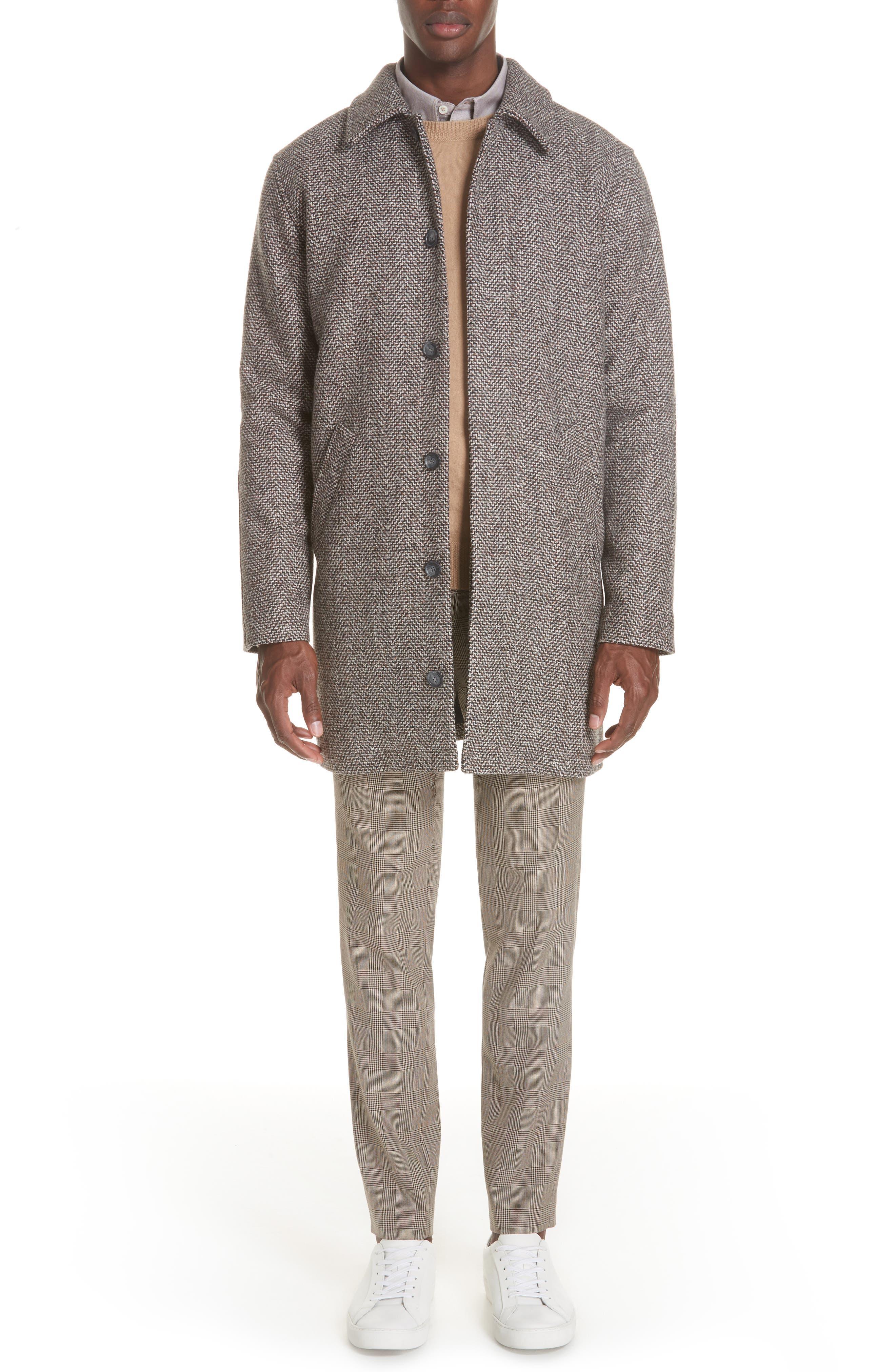 Check Wool Blend Pants,                             Alternate thumbnail 7, color,                             BAC BEIGE