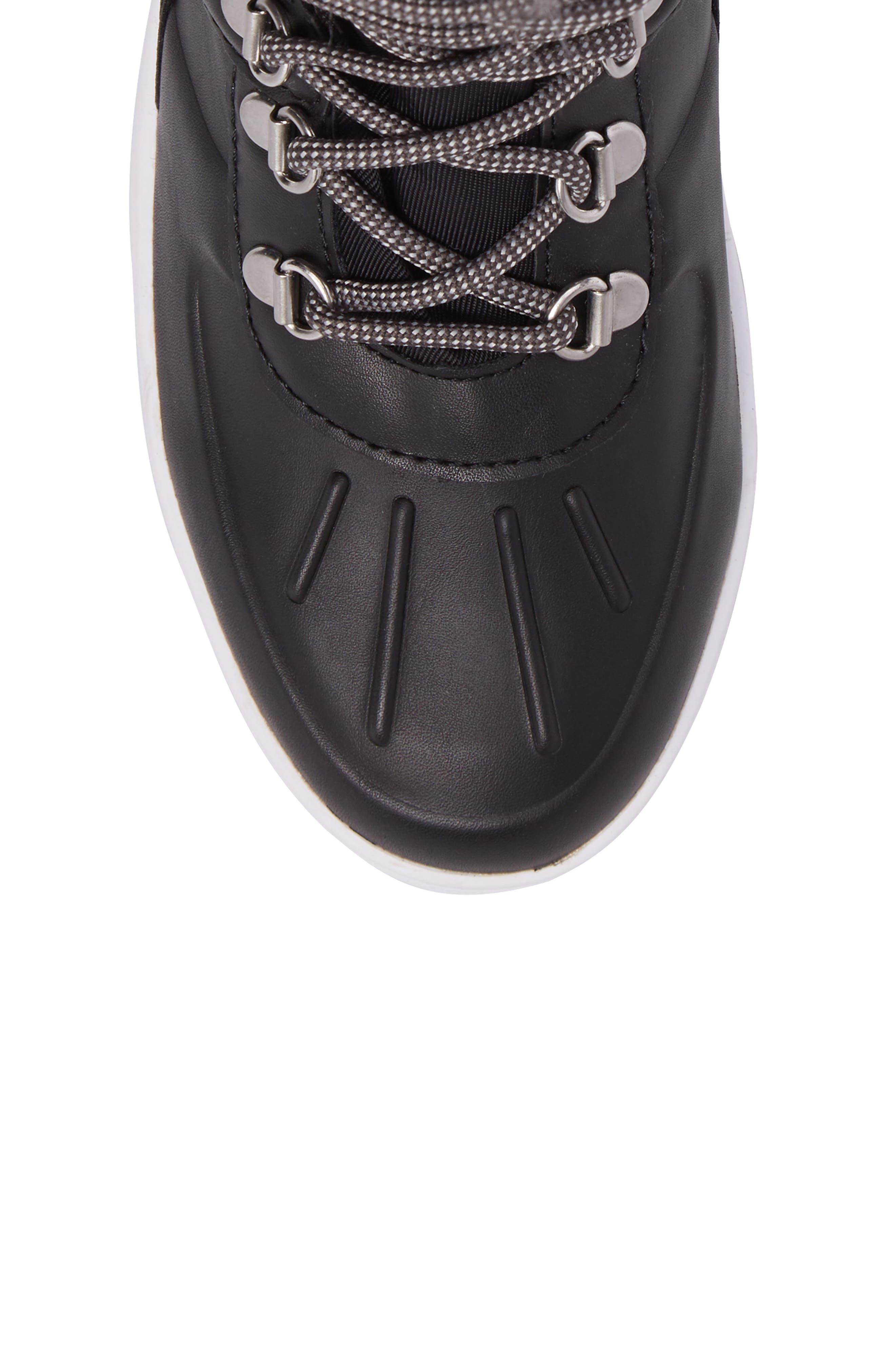 Viper Waterproof Snow Boot with Faux Fur Trim,                             Alternate thumbnail 5, color,                             BLACK