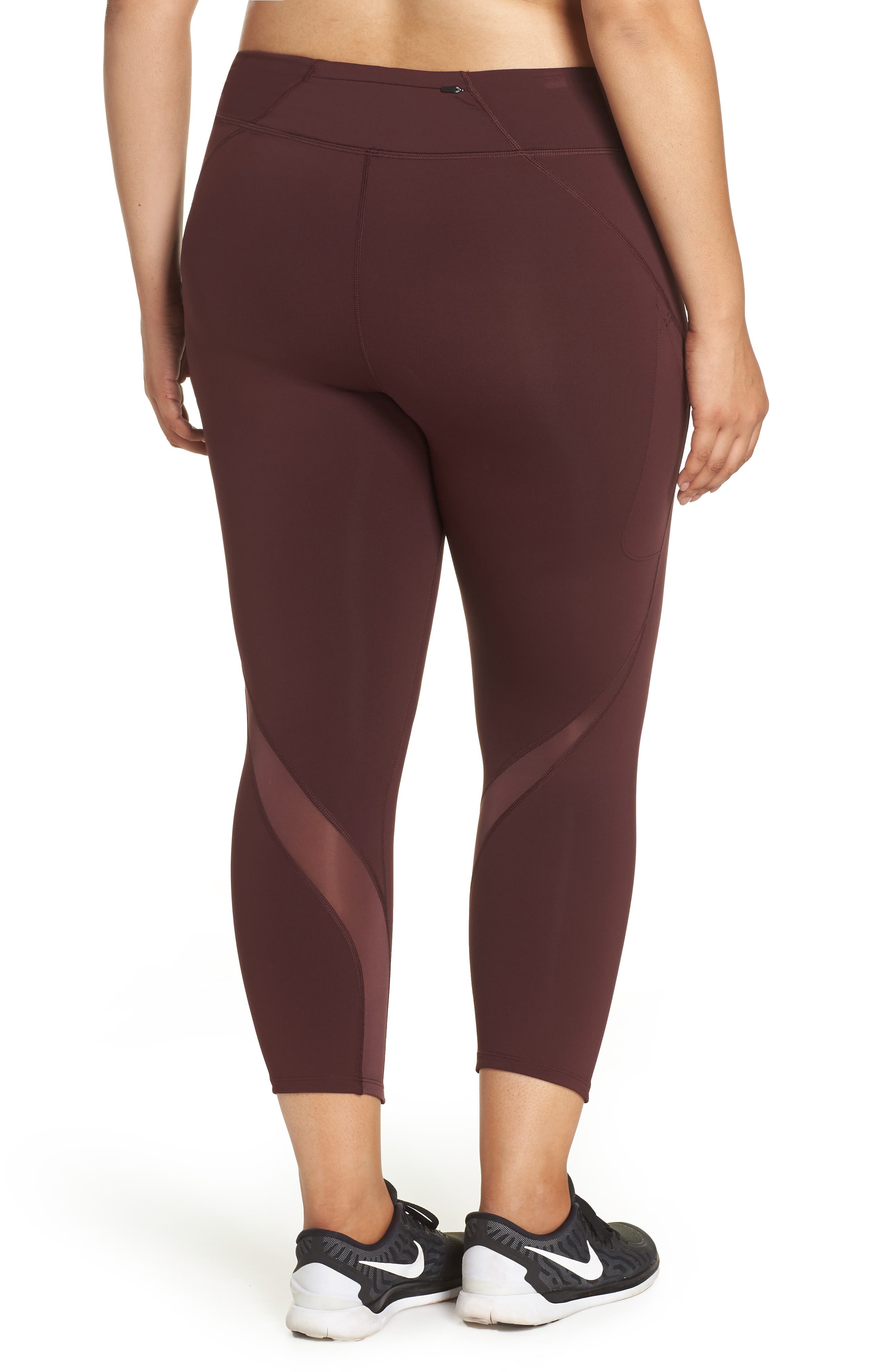 Power Epic Lux Crop Running Tights,                             Alternate thumbnail 6, color,