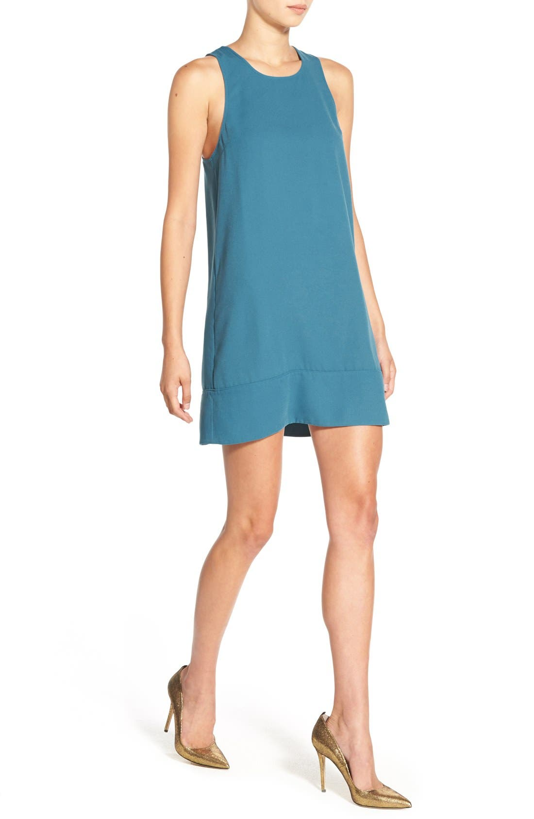 Racerback Shift Dress,                             Alternate thumbnail 111, color,