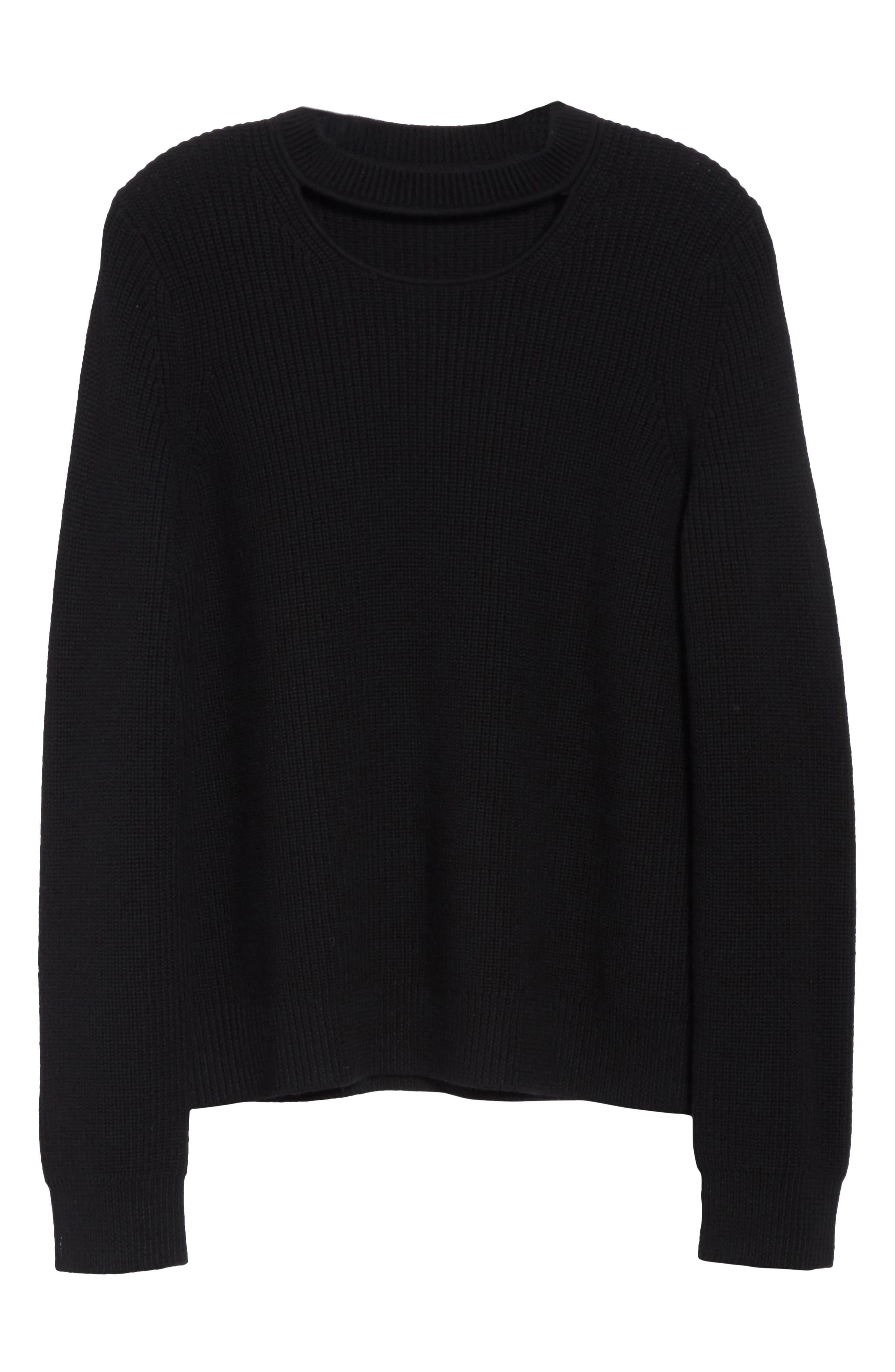 Tori Cutout Sweatshirt,                             Alternate thumbnail 6, color,                             001