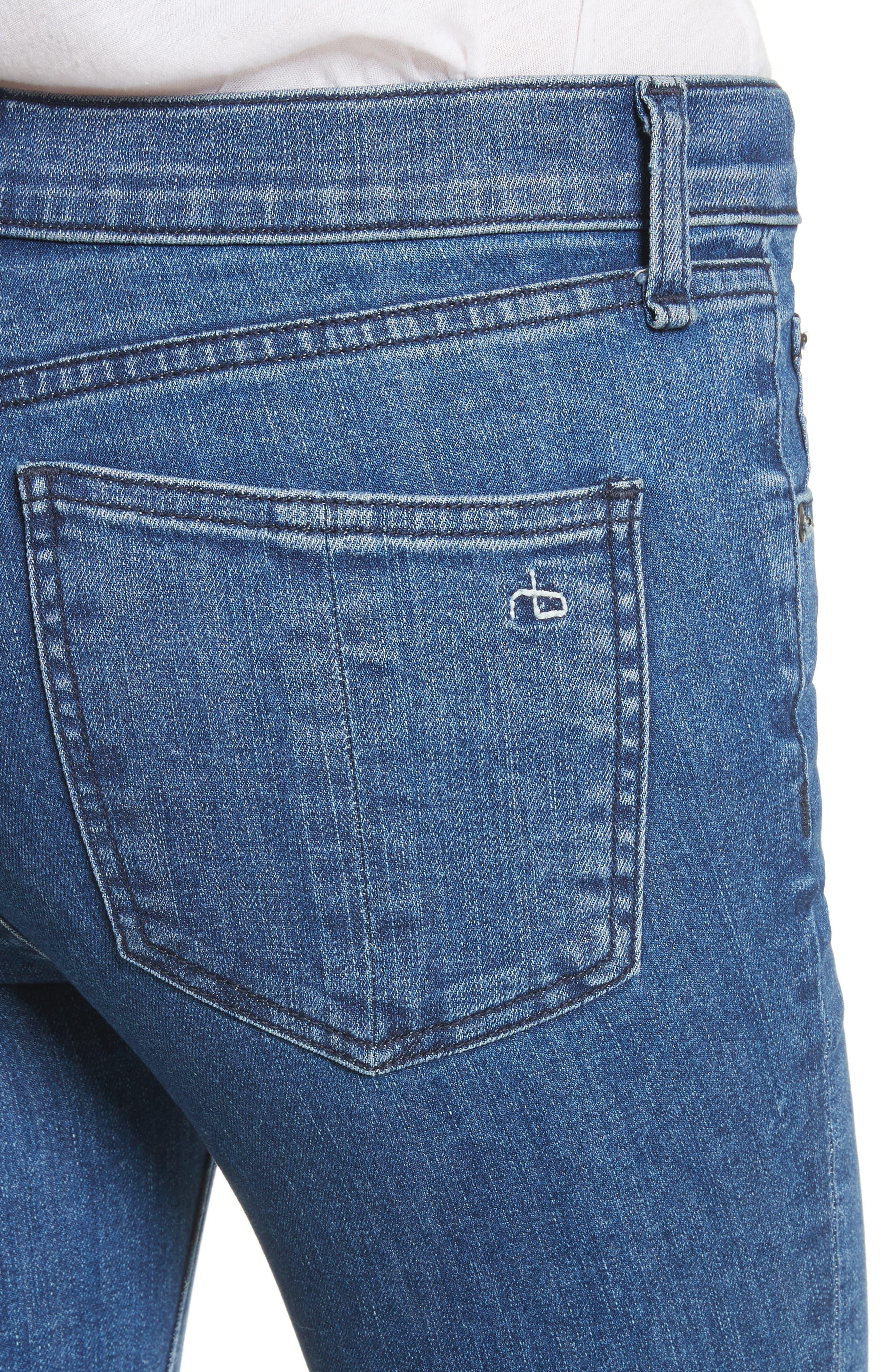 Hana High Waist Crop Bootcut Jeans,                             Alternate thumbnail 4, color,                             420