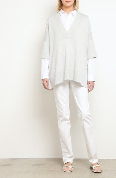 Relaxed V-Neck Cotton & Silk Sweater, video thumbnail